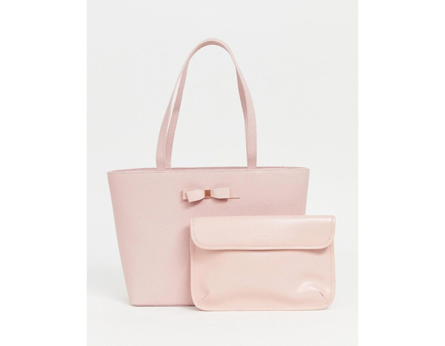 68a6e0729c Ted Baker Jessica Bow Shopper Bag in Pink - Lyst
