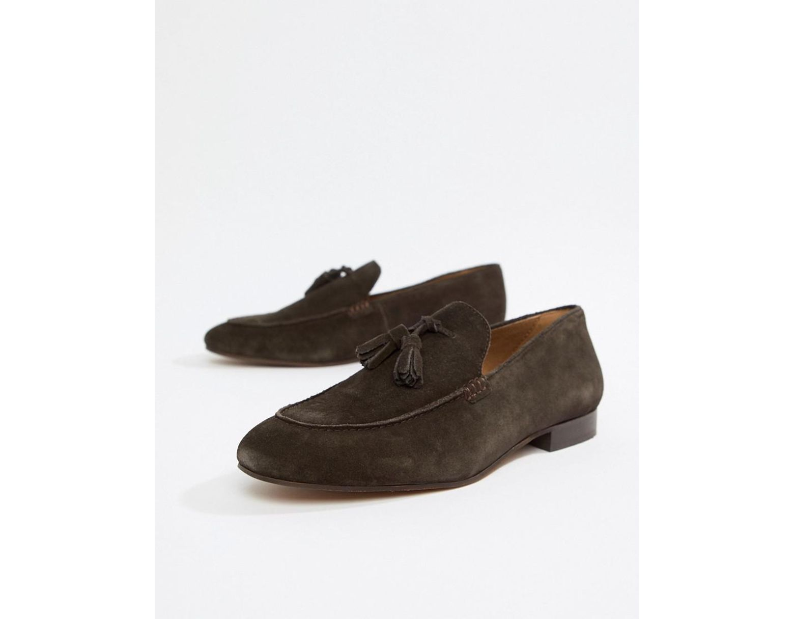3598421919ad5 H by Hudson Bolton Tassel Loafers In Brown Suede in Brown for Men - Save  50% - Lyst