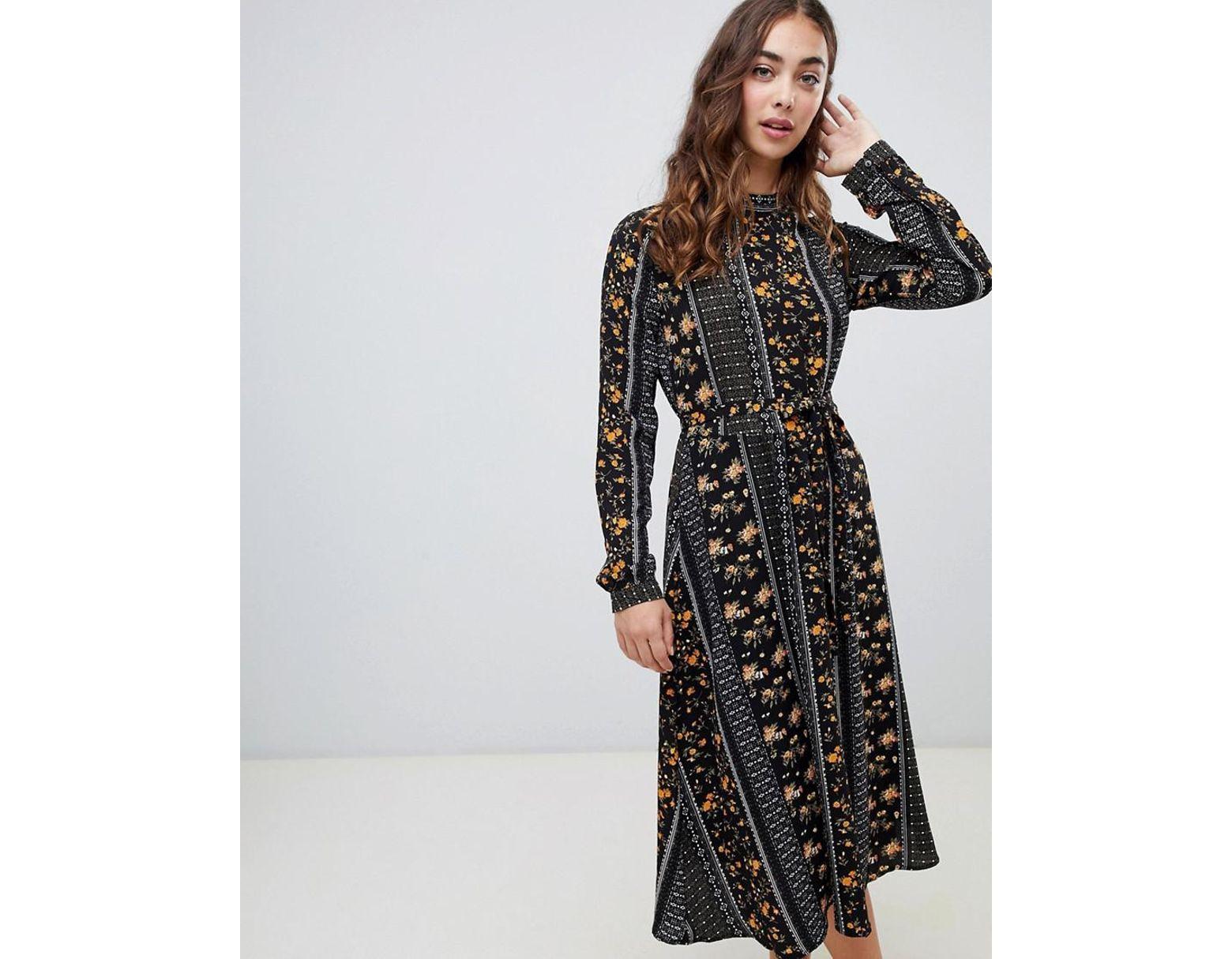 ad3de879dd25 Vero Moda Mix And Match Print Mini Dress In Black in Black - Lyst
