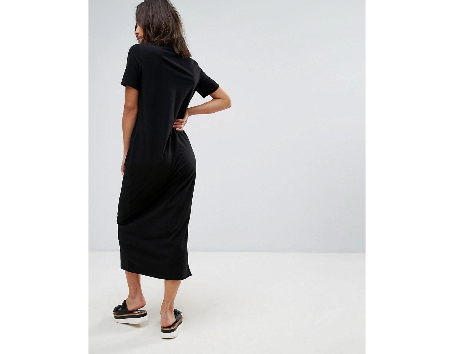 c5b71c68d547 ASOS Asos Design Petite Ultimate T-shirt Maxi Dress in Black - Save 41% -  Lyst