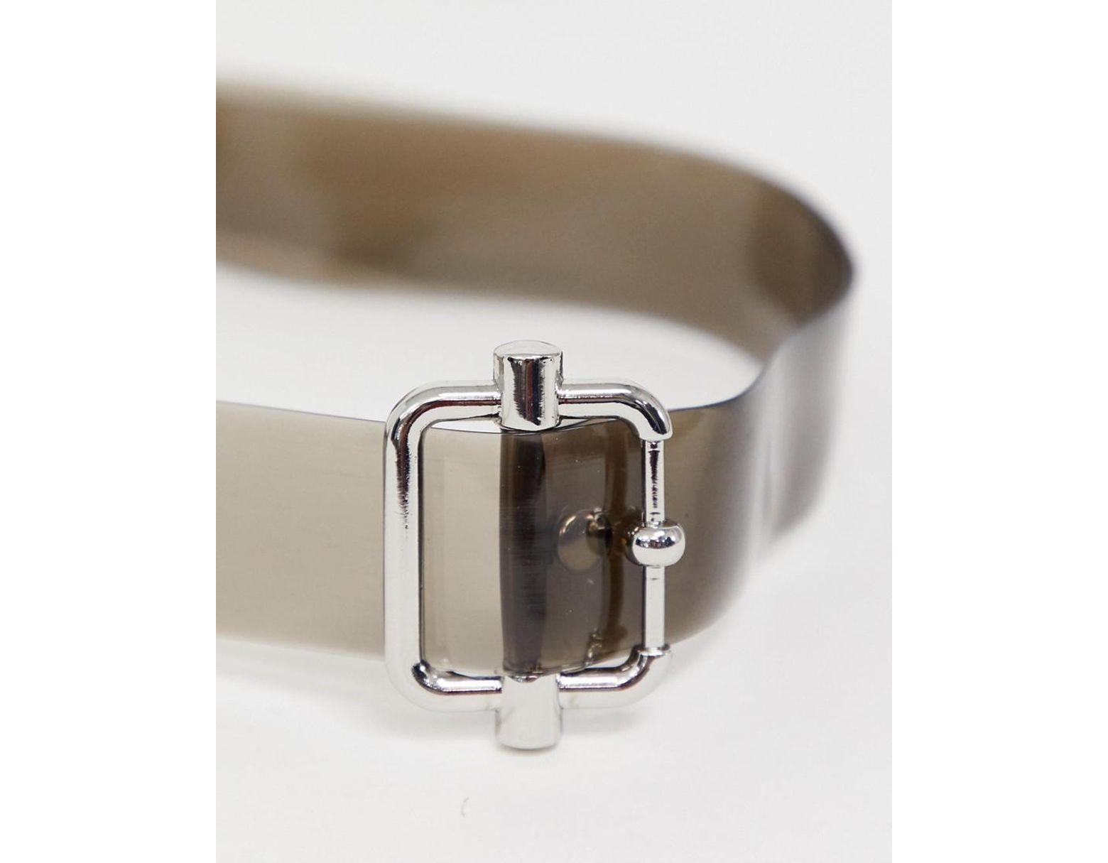2f36d544b0659 ASOS Skinny Long Ended Belt In Black Plastic And Silver Buckle in Black for  Men - Lyst