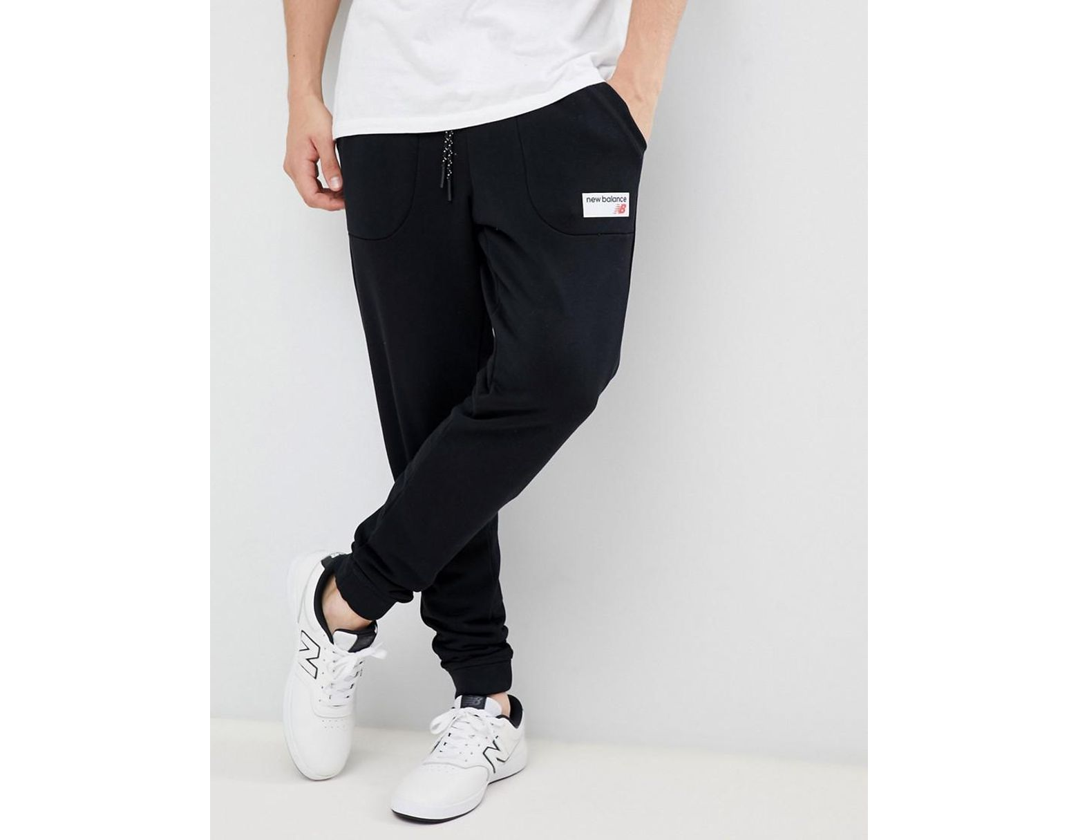 05bf558d New Balance Small Logo joggers In Black Mp83515_bk in Black for Men - Lyst