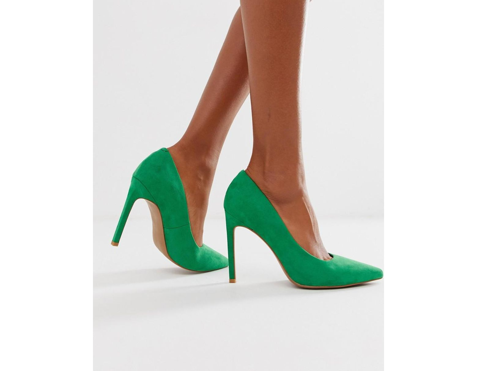 9e00c3ca3c4 ASOS Porto Pointed High Heeled Court Shoes In Emerald Green in Green - Lyst