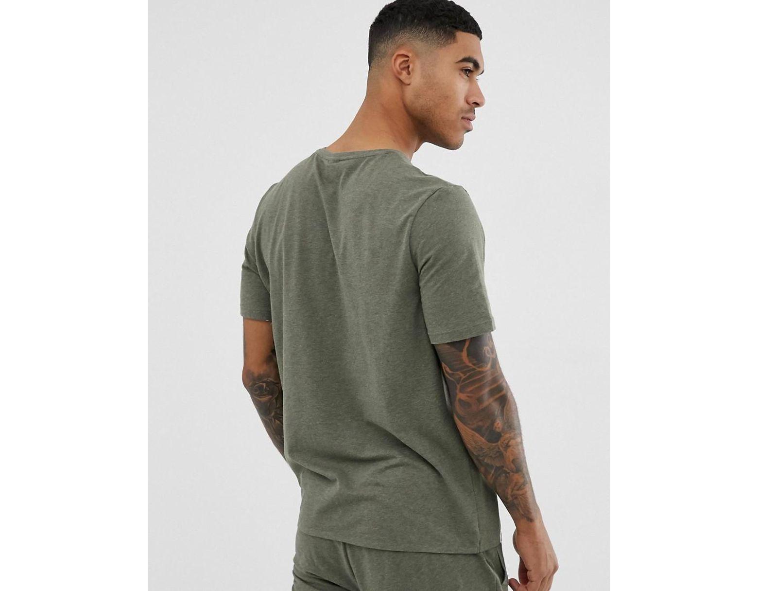 6c0c9d6b3 BOSS Bodywear Identity Logo T-shirt In Khaki in Green for Men - Lyst