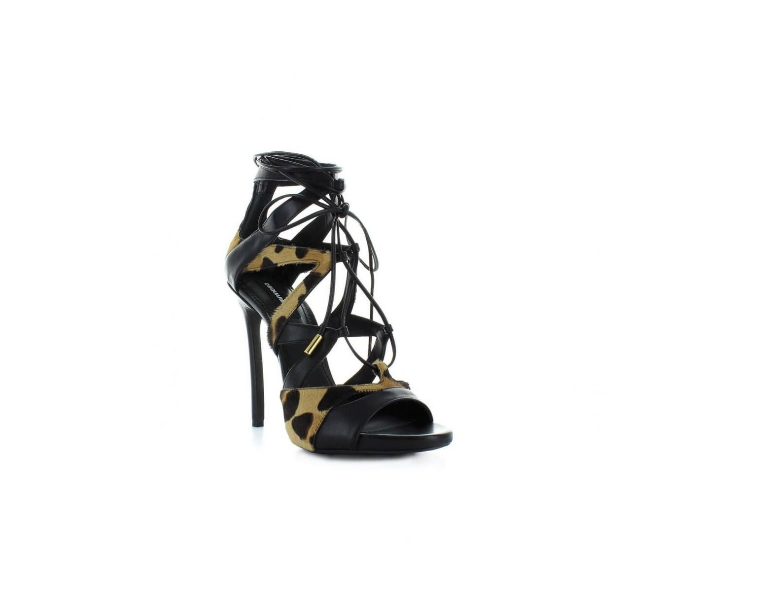 Dsquared2 The Giant Sandals Black High Heeled Sandals for