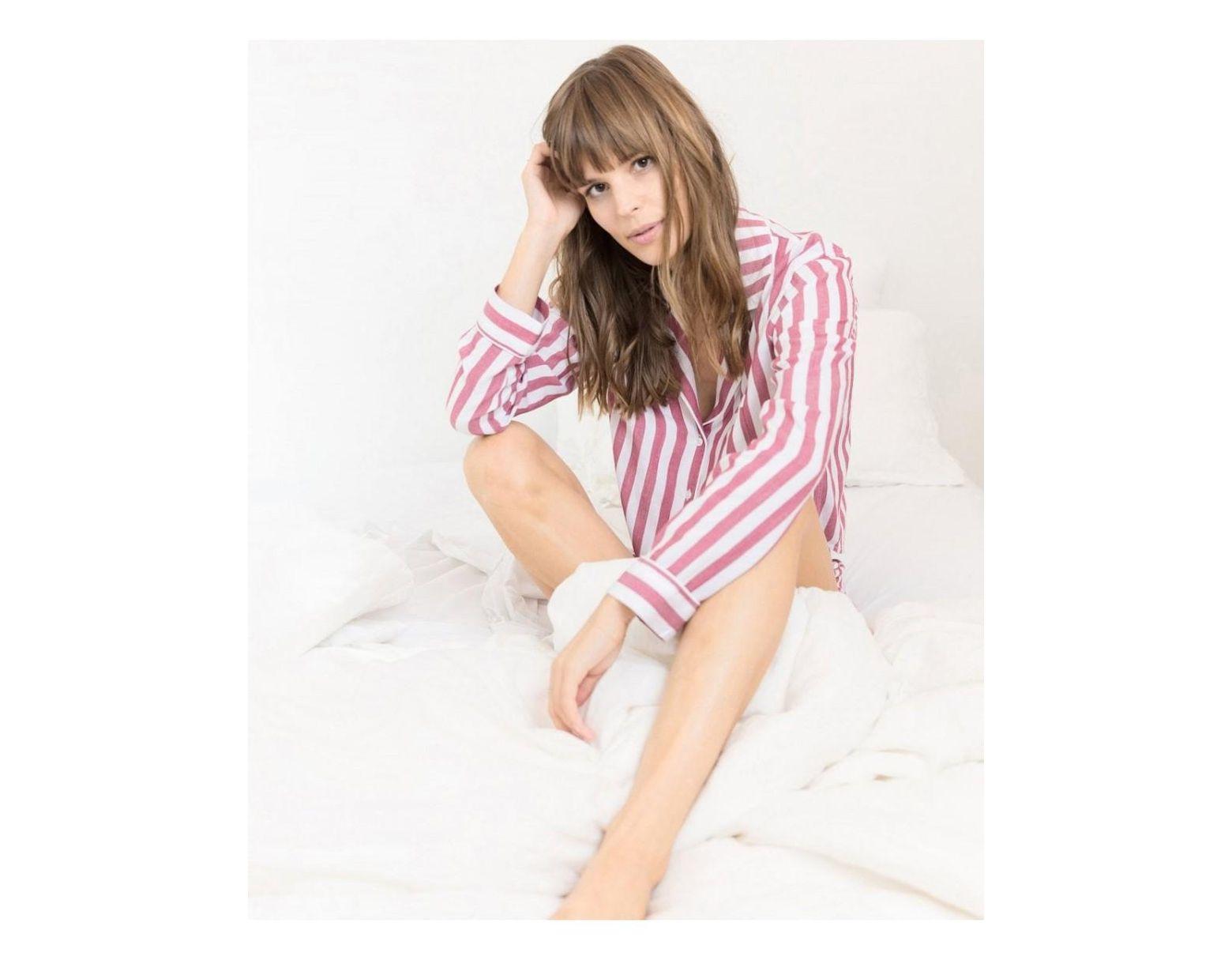 b119d6a5a9756c Rails Garnet White Stripe Short Pyjama Set in Pink - Lyst
