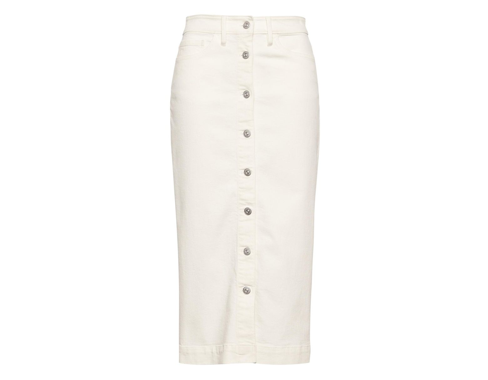 f79ae9bba4 Banana Republic Japan Exclusive Button-front Denim Skirt in White - Lyst