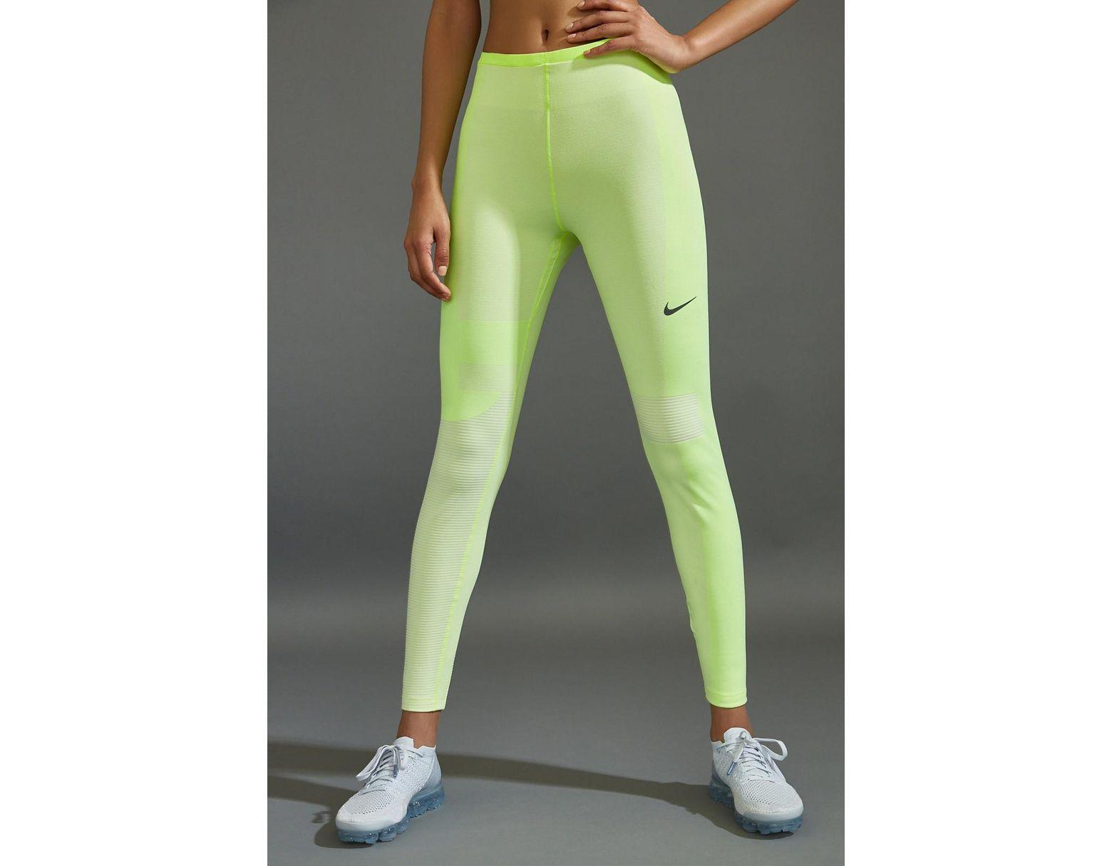 21529a20e10e7 Nike Run Tech Pack Knit Tight in Green - Lyst
