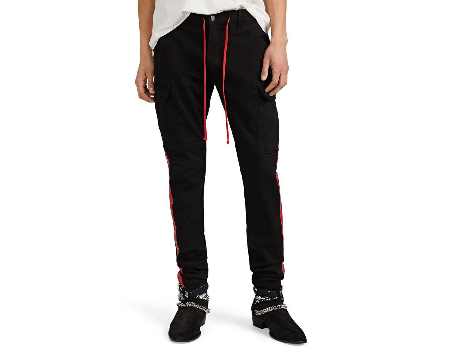 38e8fbe0d759 Amiri Denim Cargo Track Pants in Black for Men - Lyst