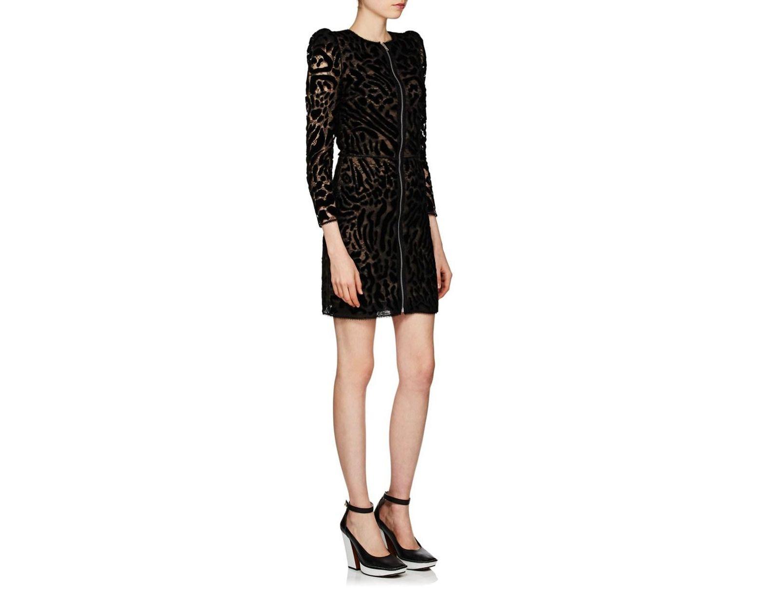7c4117a077ba Givenchy Leopard-pattern Lace & Velvet Minidress in Black - Save 84% - Lyst