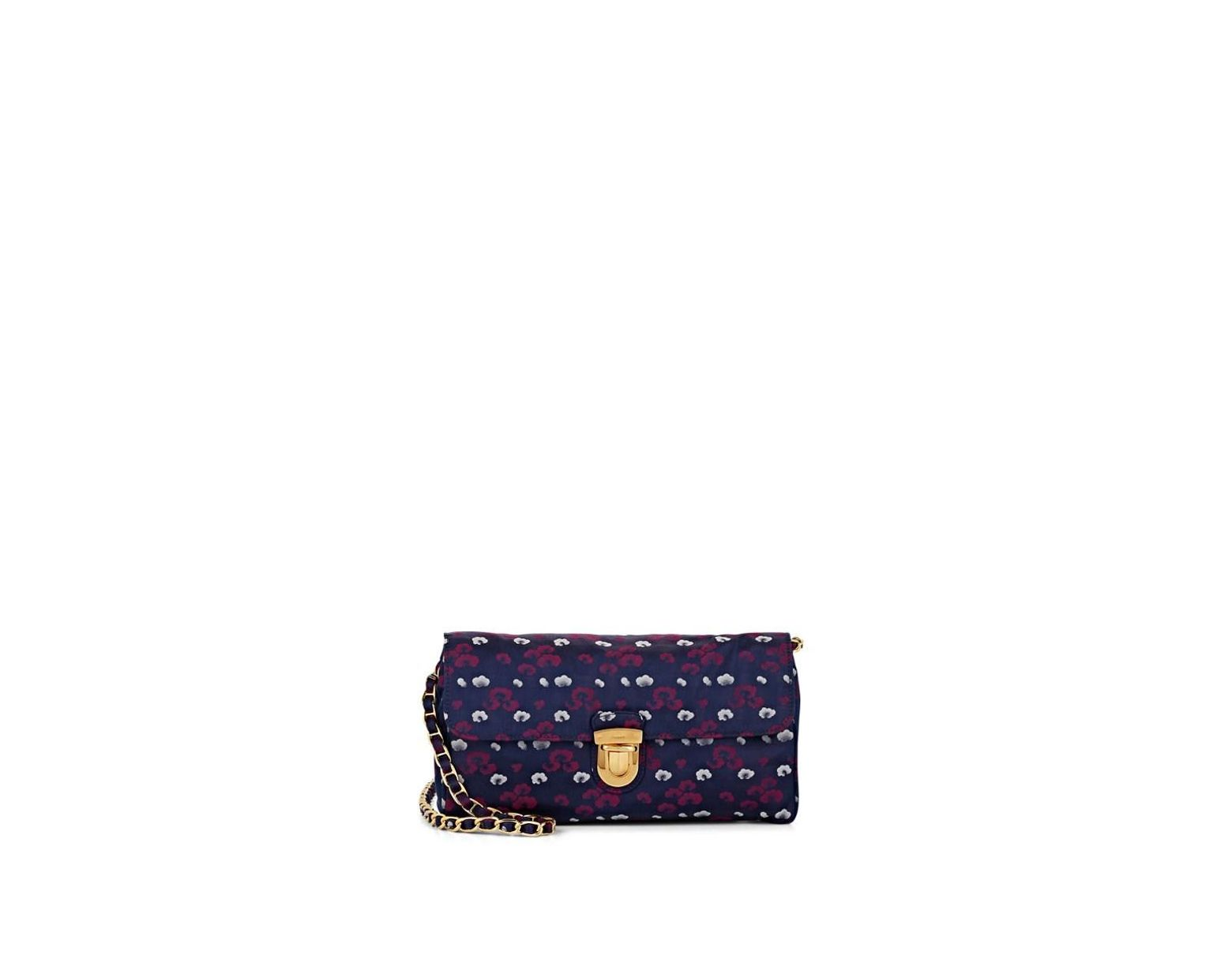 0789c5617dd Prada Donna Floral Print Shoulder Bag in Purple - Save 50% - Lyst