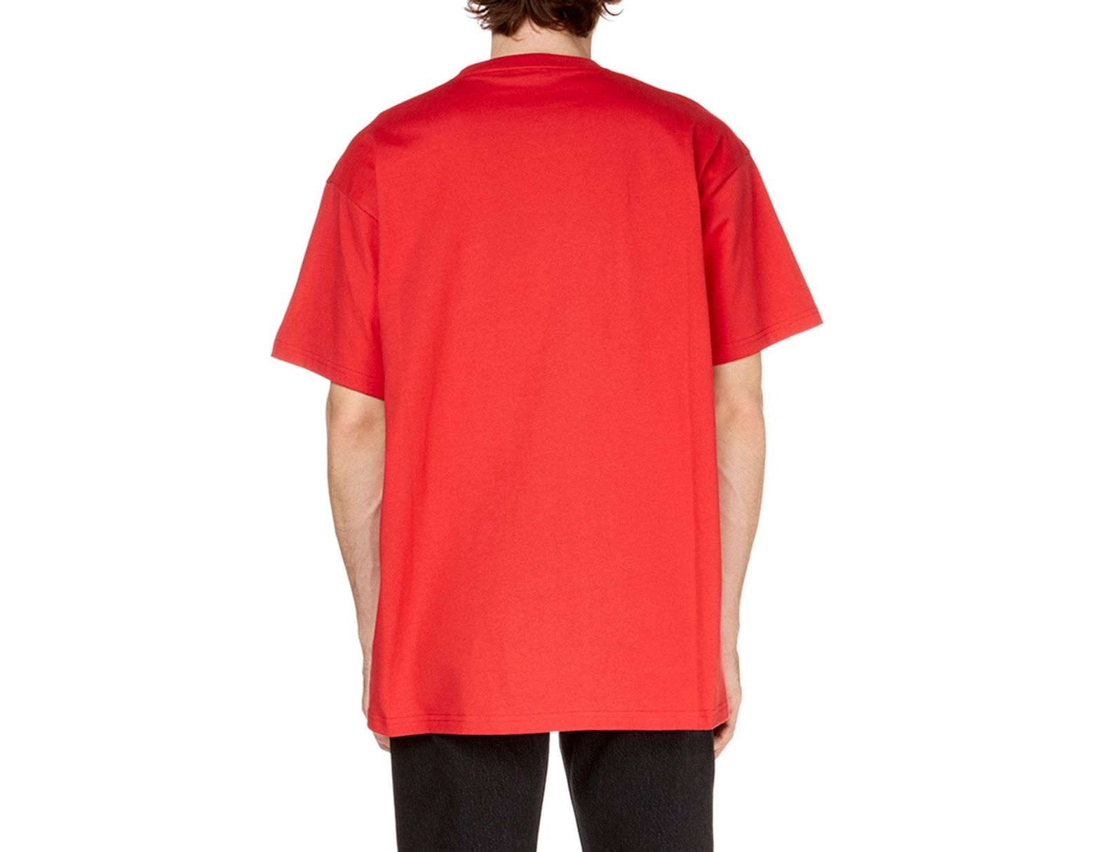 15bb81a99 Balenciaga Men's Sinners Crewneck Jersey T-shirt in Red for Men - Lyst