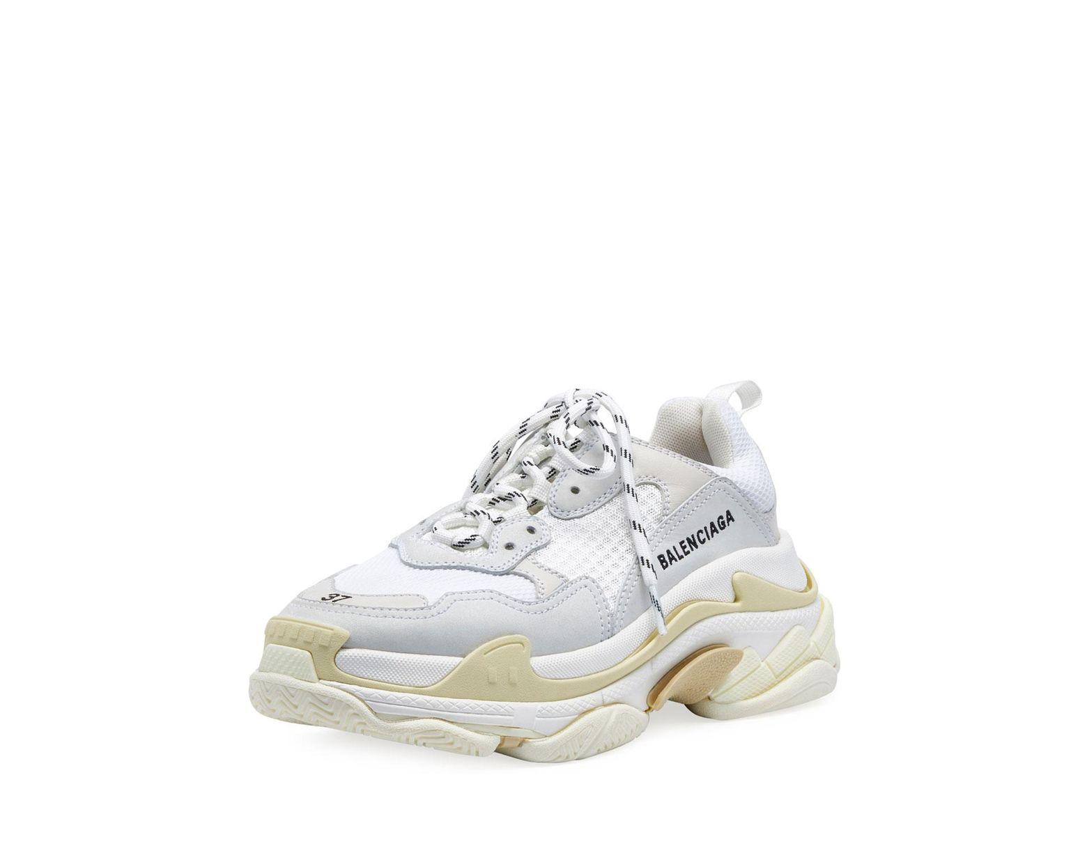 d3e4a575a46d Lyst - Balenciaga White Triple S Sneakers in White for Men