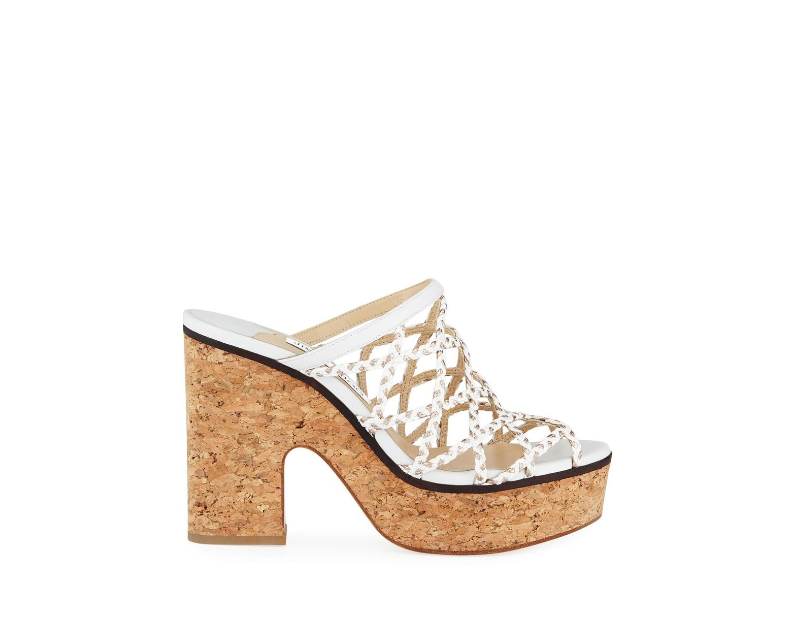 01182405bf Jimmy Choo Women's Dalina Caged Platform Sandals in White - Save 33% - Lyst