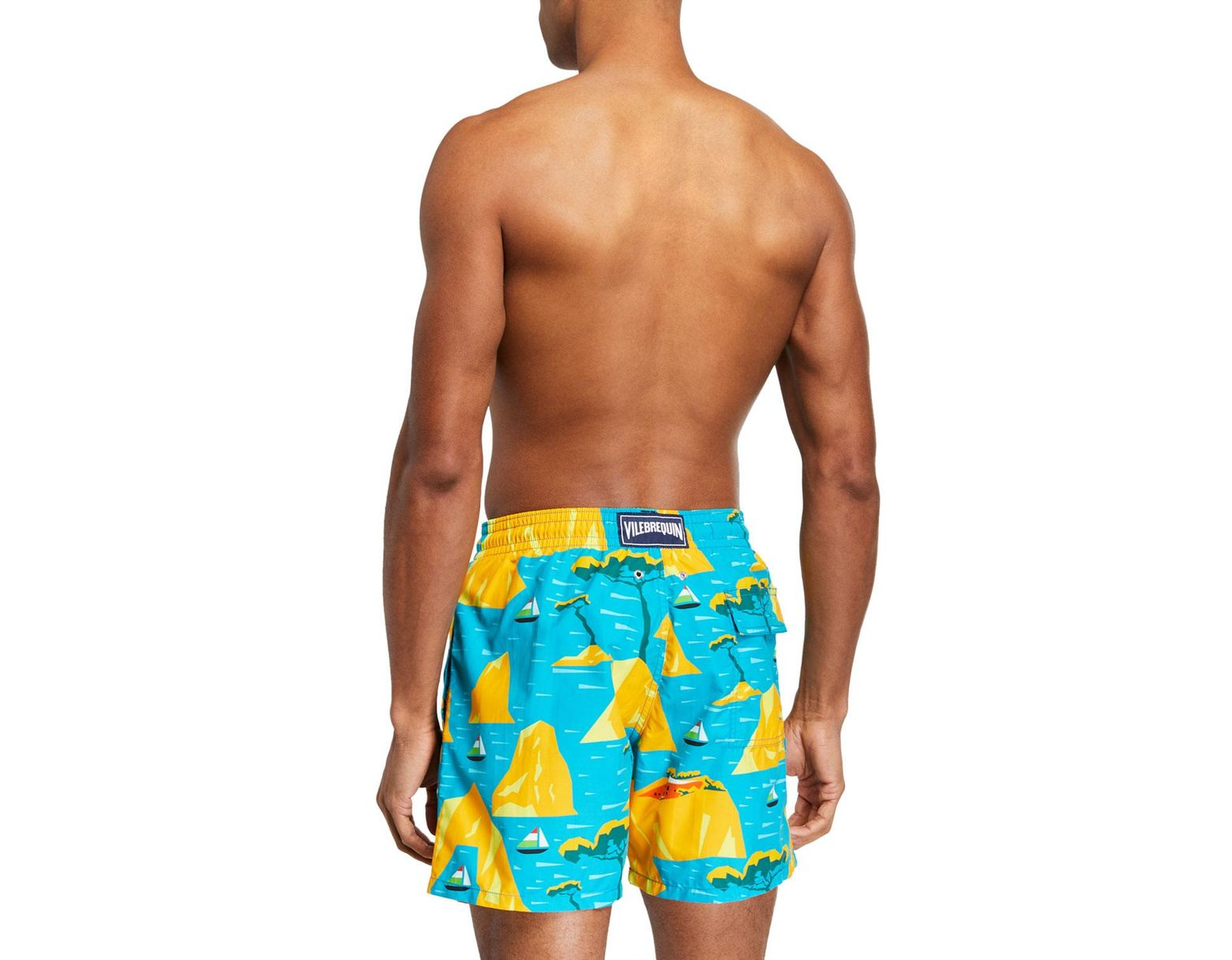 37fef1f9d079 Vilebrequin Men's Moorea 9th August Capri Swim Trunks in Blue for Men - Lyst