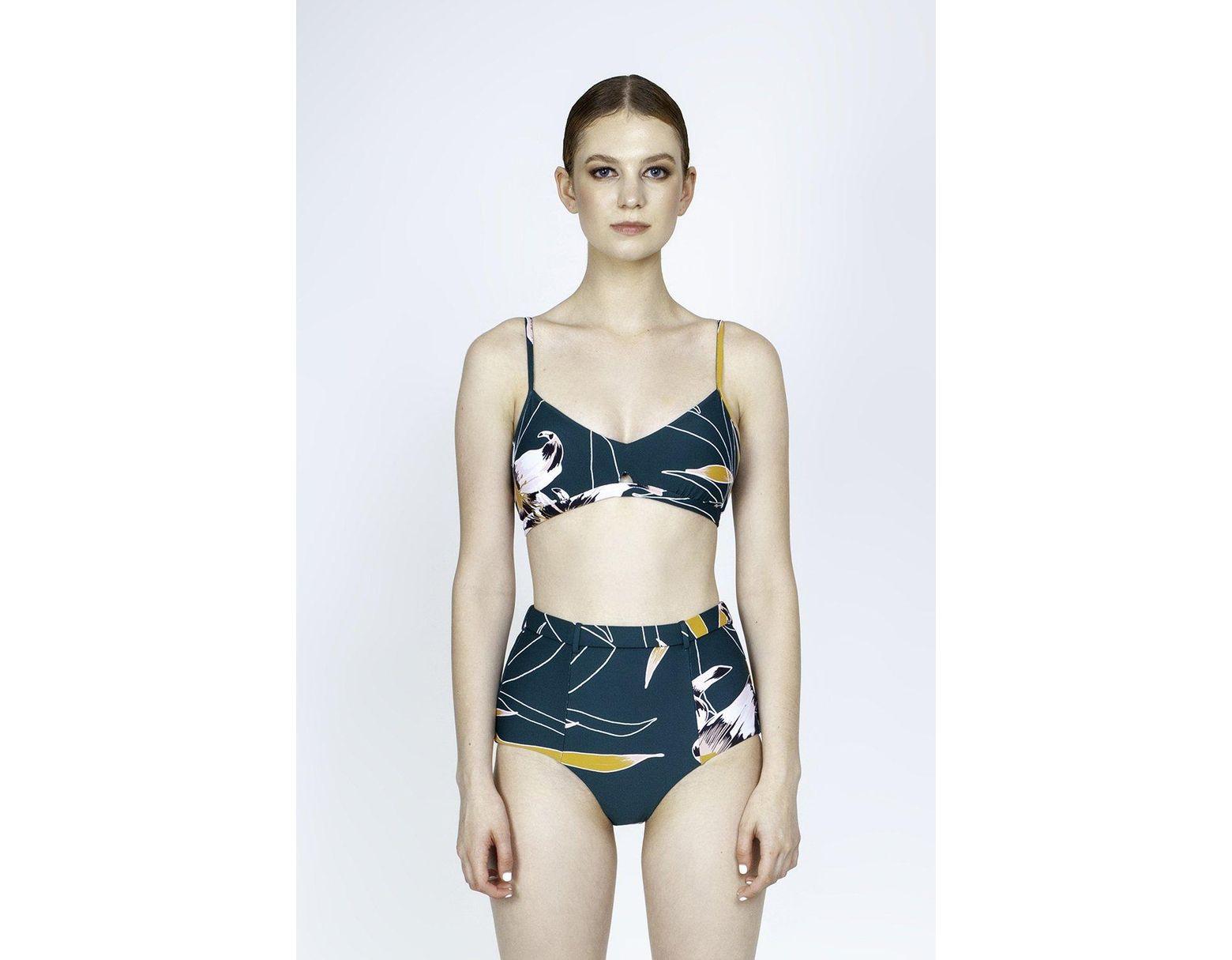 c238001b2e689 Seafolly Aralia Belted High Waist Bikini Bottom - Emerald Floral Print in  Green - Lyst