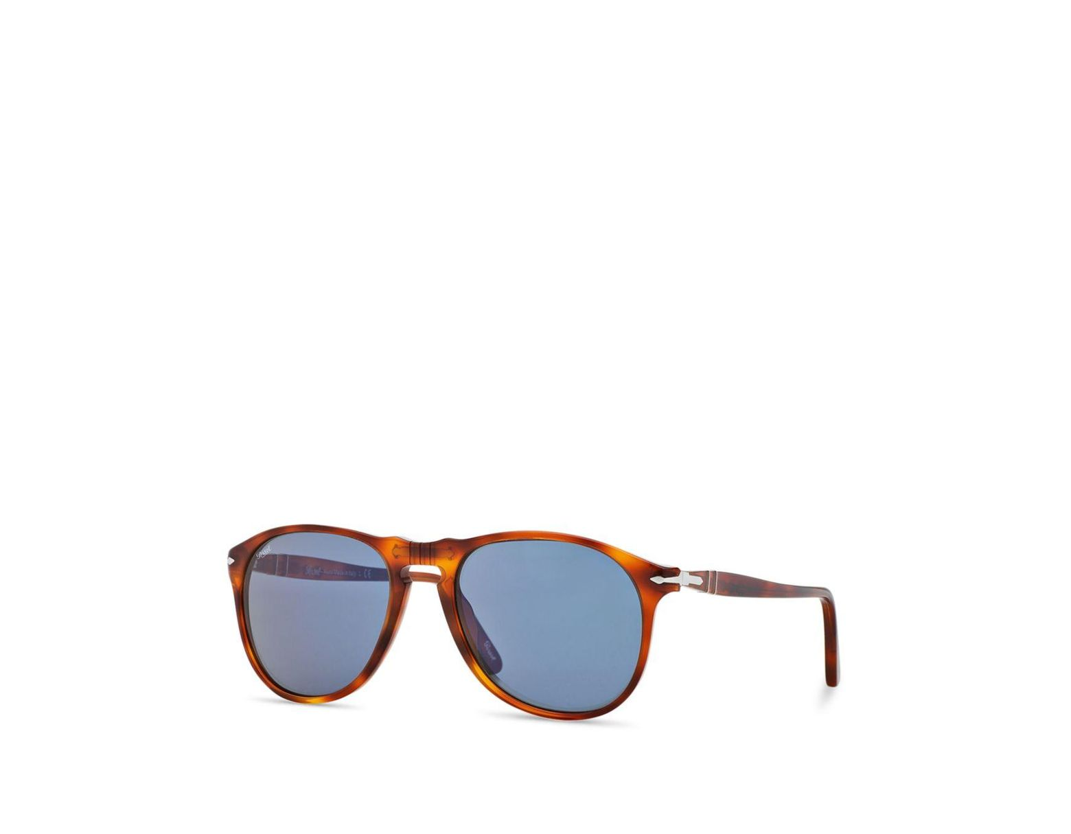 d07ca50c56 Persol Men s Icons Collection Evolution Pilot Square Sunglasses in Brown  for Men - Lyst