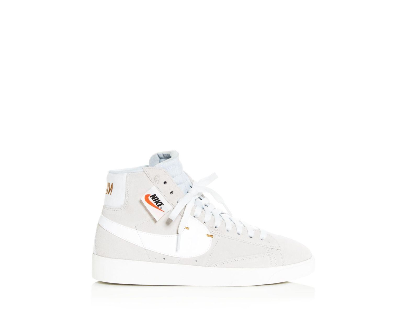 White Women's Blazer Rebel Mid - Top Sneakers