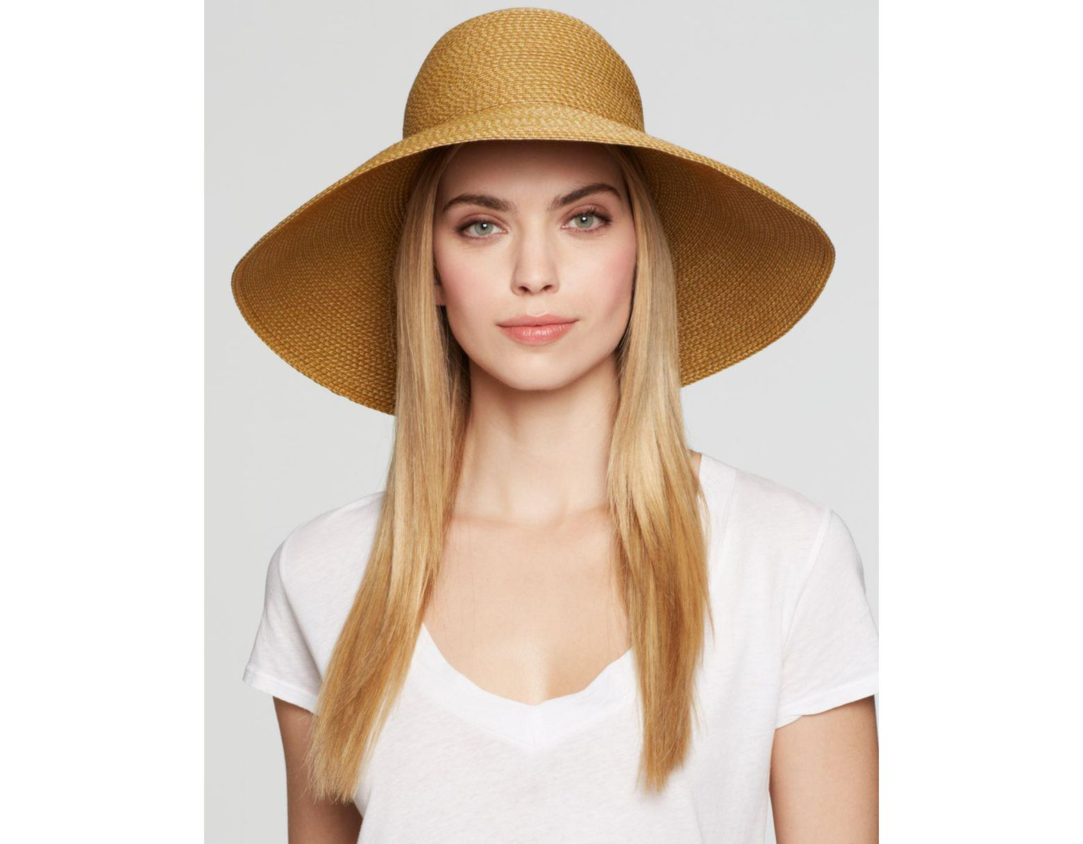 3d04169bec34f Eric Javits Bella Floppy Hat in Natural - Lyst