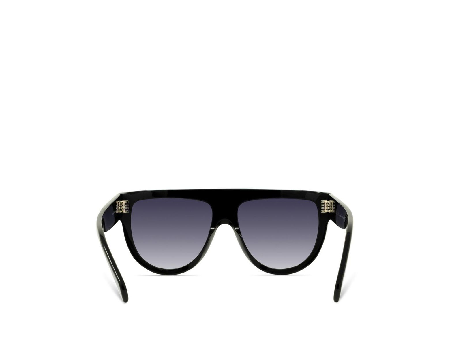 3f94ebd7a7a9 Céline Women's Embellished Flat Top Aviator Sunglasses in Black - Lyst