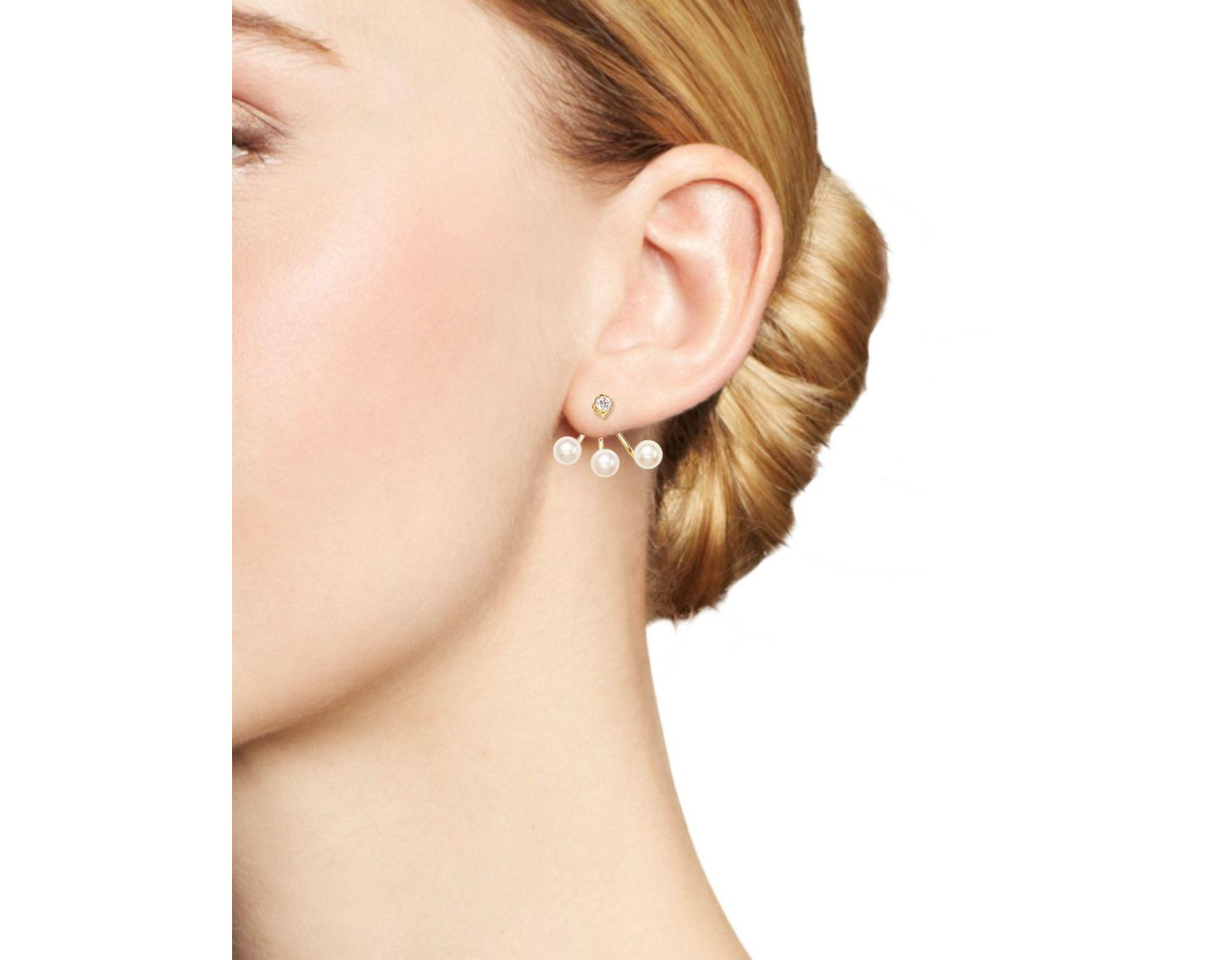 52189b4cf Zoe Chicco Diamond & 14k Yellow Gold Single Ear Cuff in Metallic - Save 17%  - Lyst