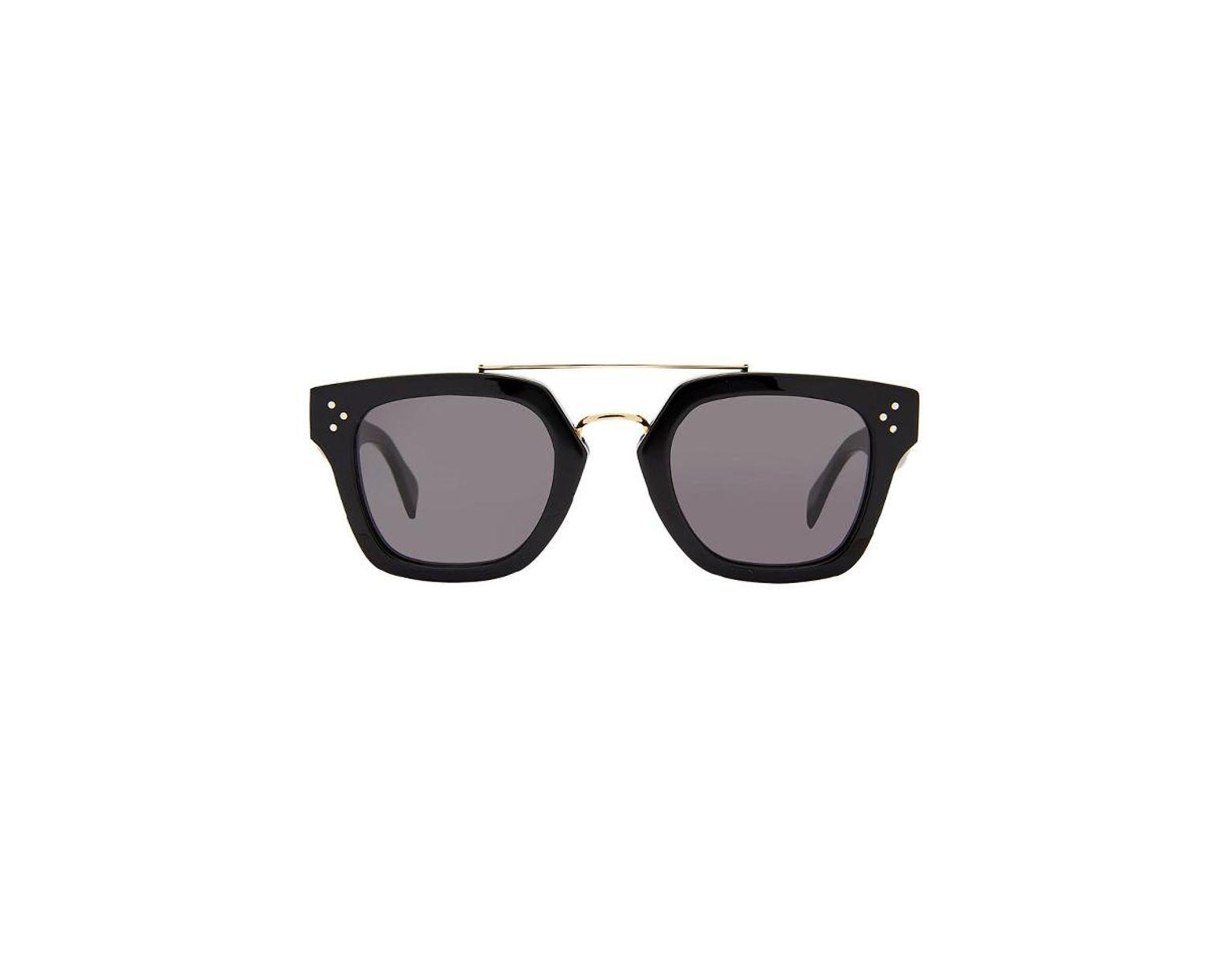 677e1f2775e01 Céline Women s Brow Bar Square Sunglasses in Black - Save 8% - Lyst