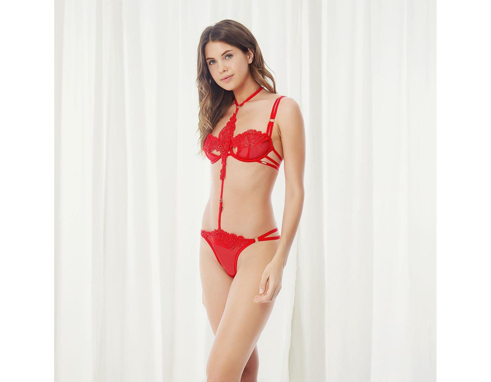 f7028932623 Bluebella Julienne Harness Thong Red in Red - Lyst