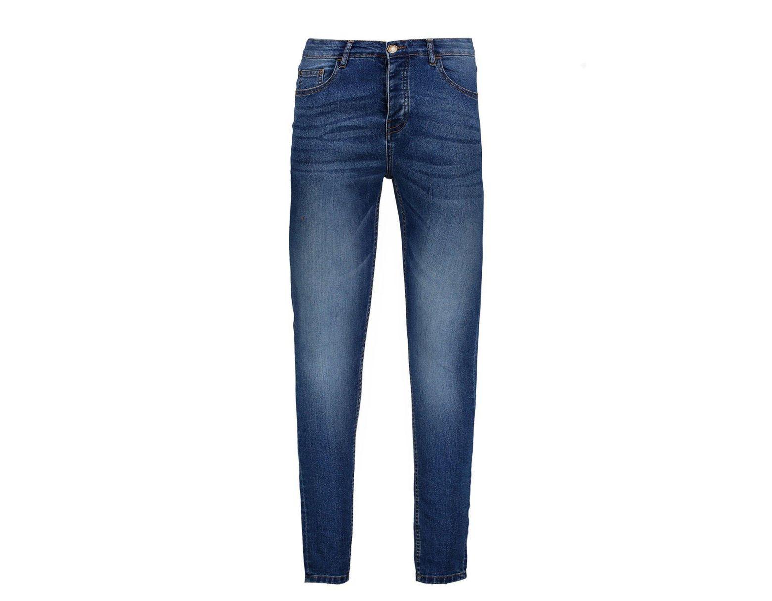 9bdf8323e8aed Boohoo Spray On Skinny Jeans in blauer Waschung in Blau für Herren ...