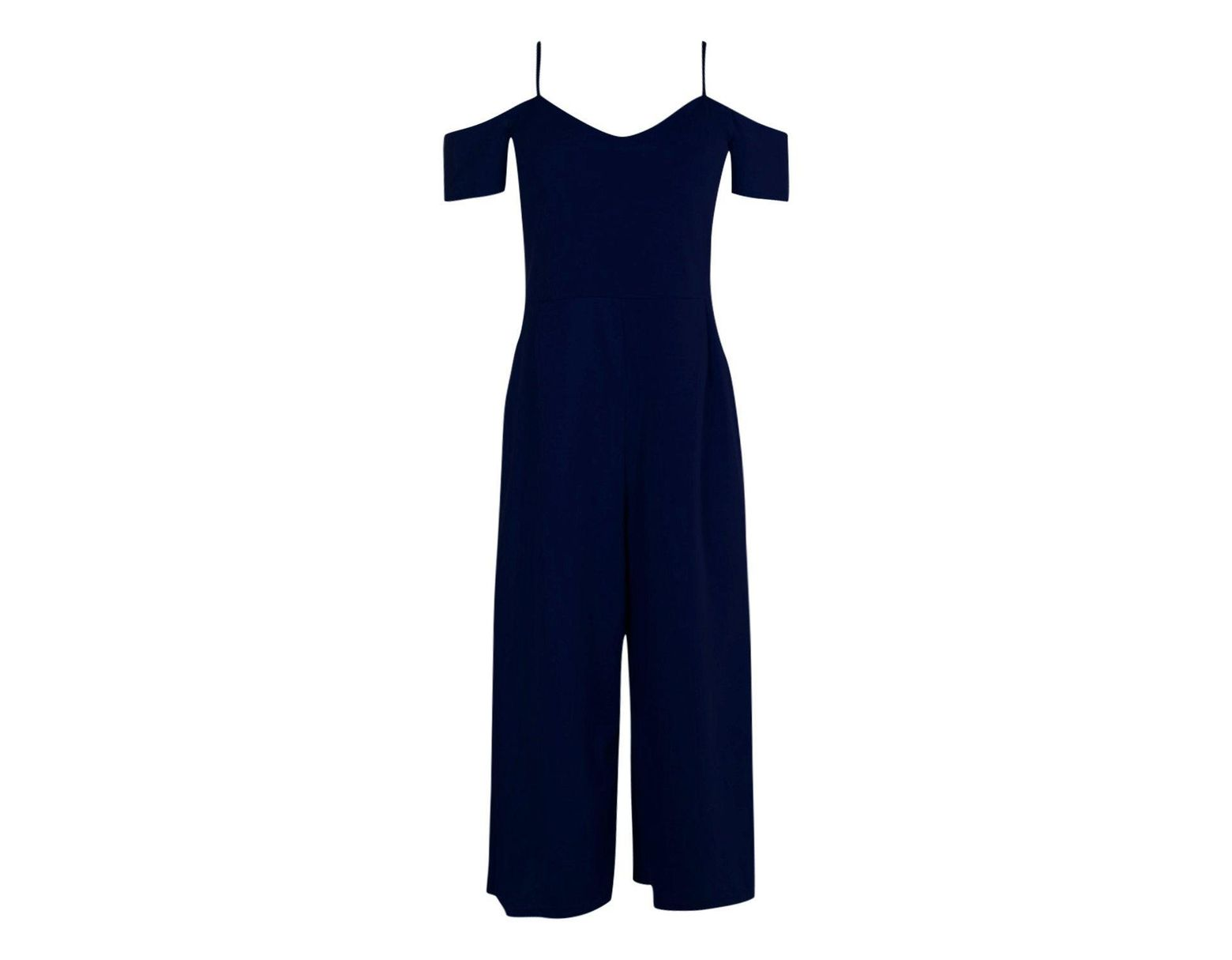 9f27c1ccd4 Boohoo Off The Shoulder Culotte Jumpsuit in Blue - Lyst