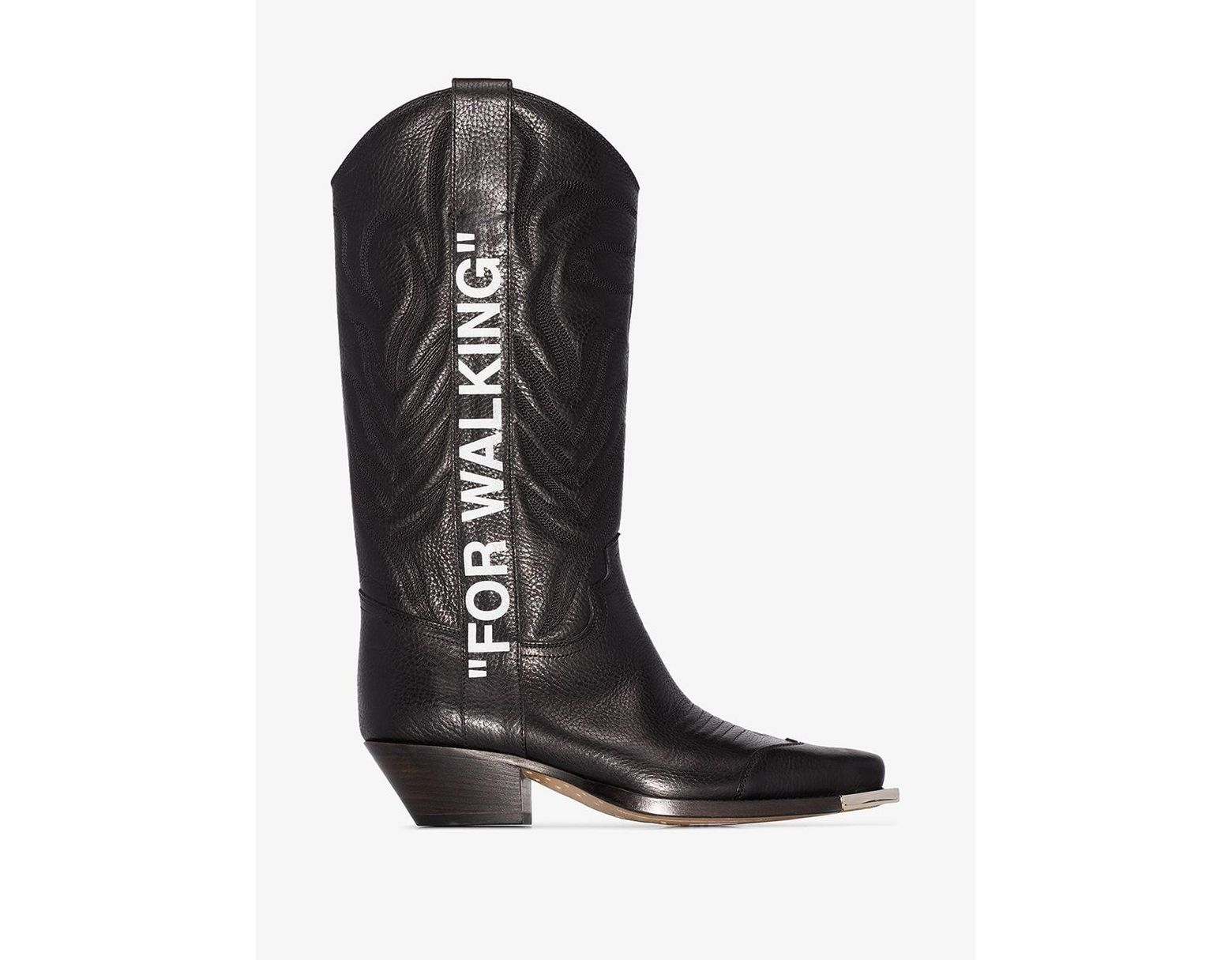 36ce6a802 Off-White c/o Virgil Abloh Black For Walking Cowboy Boots in Black - Lyst