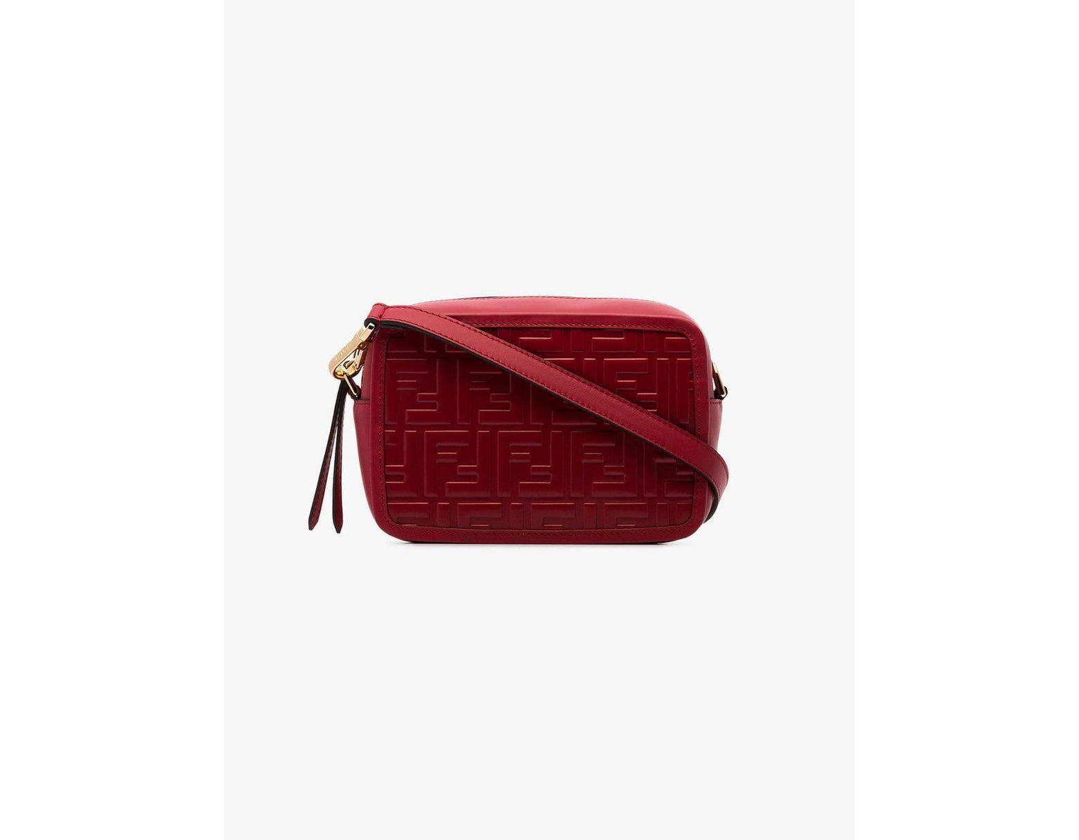 75fa62942c Fendi Red Mini Camera Case Cross Body Bag in Red - Save 30% - Lyst