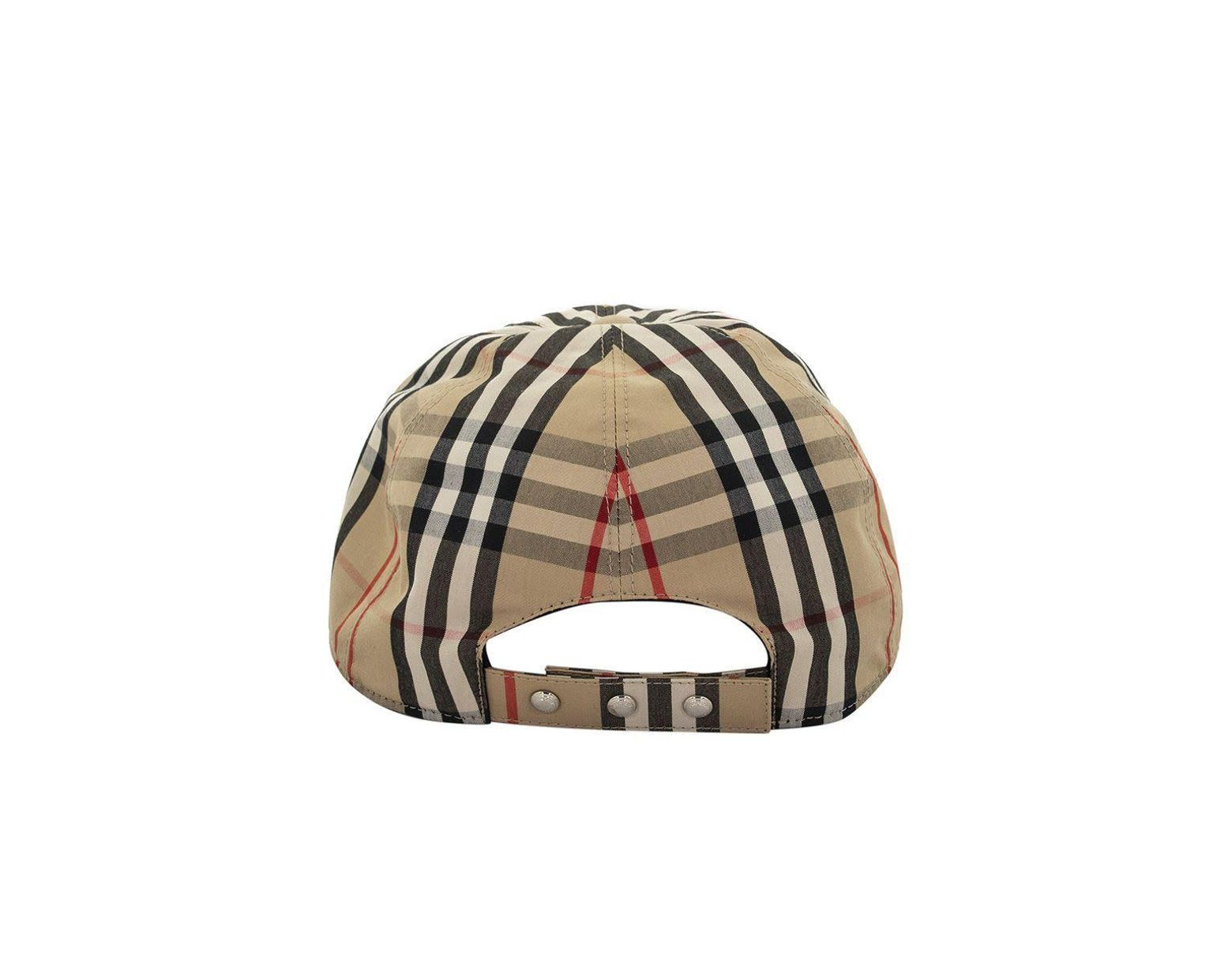 6596e5a8c12f82 Burberry Monogram Motif Vintage Check Baseball Cap for Men - Lyst