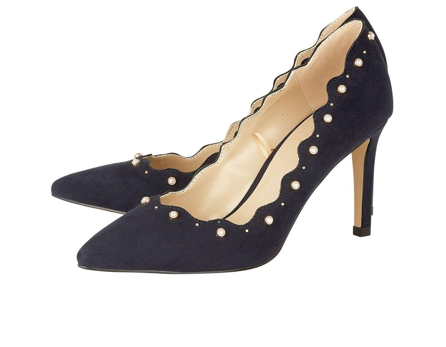 630dc15e2da7 Lotus Popple Womens Pearl Embellished Court Shoe in Blue - Lyst