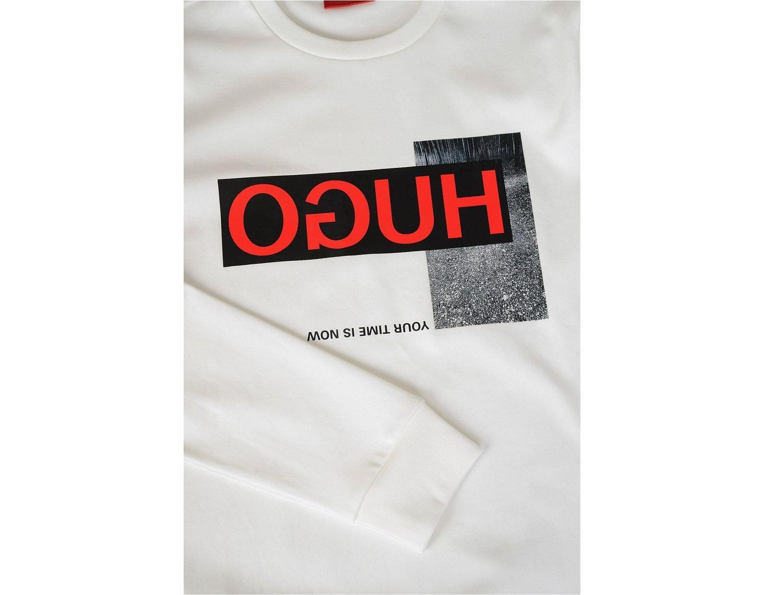 dc3eec2a1 HUGO Boss 'dicago' Sweatshirt in White for Men - Lyst