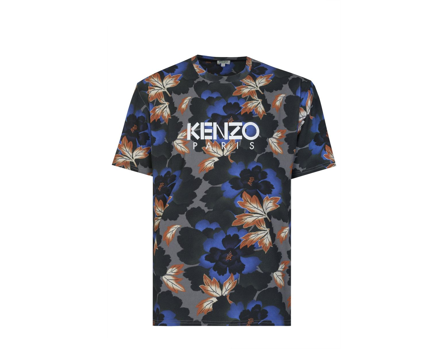924be9fb9 KENZO Paris Floral Print T-shirt in Blue for Men - Lyst