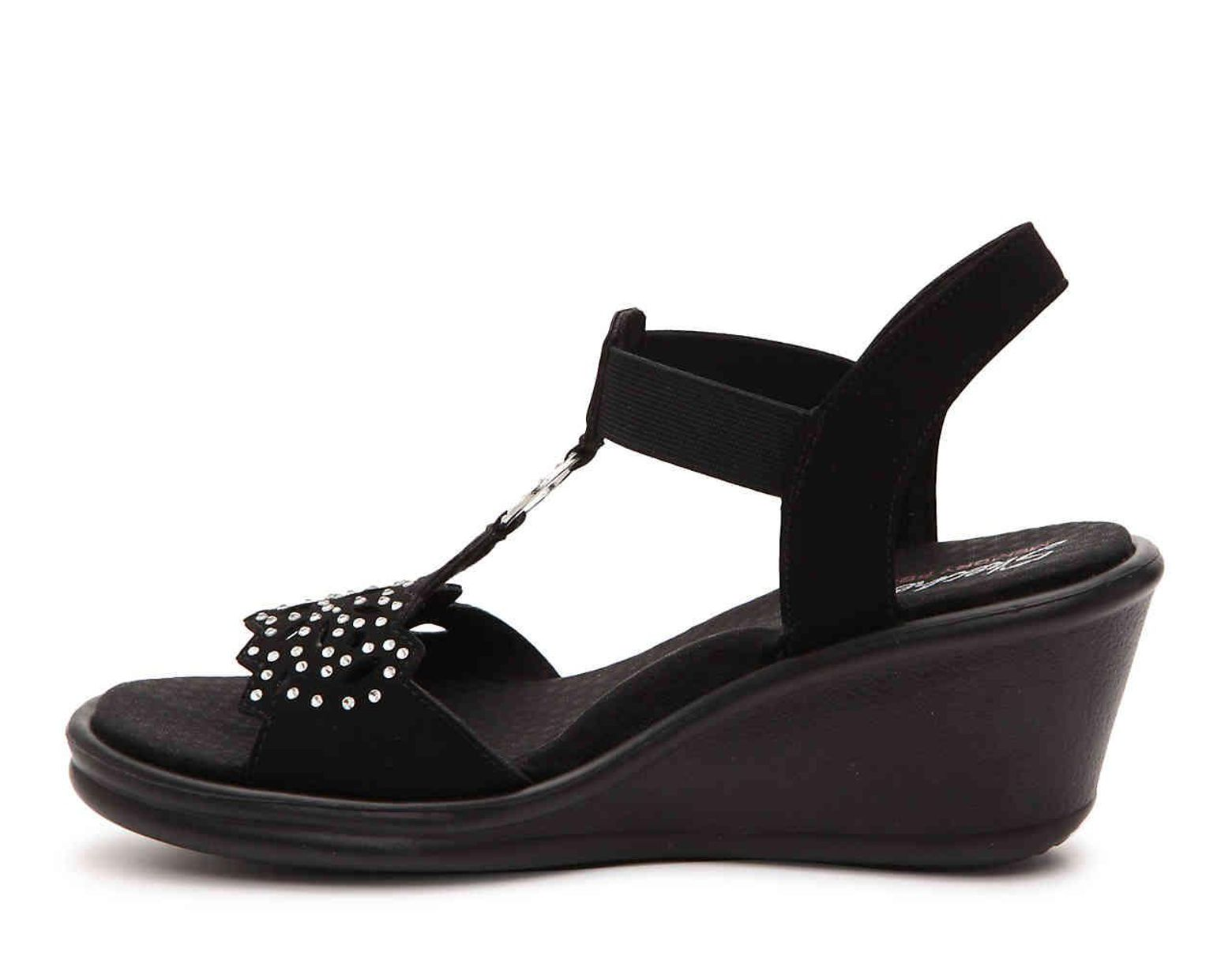 Women's Black Cali Rumblers Queen B Wedge Sandal