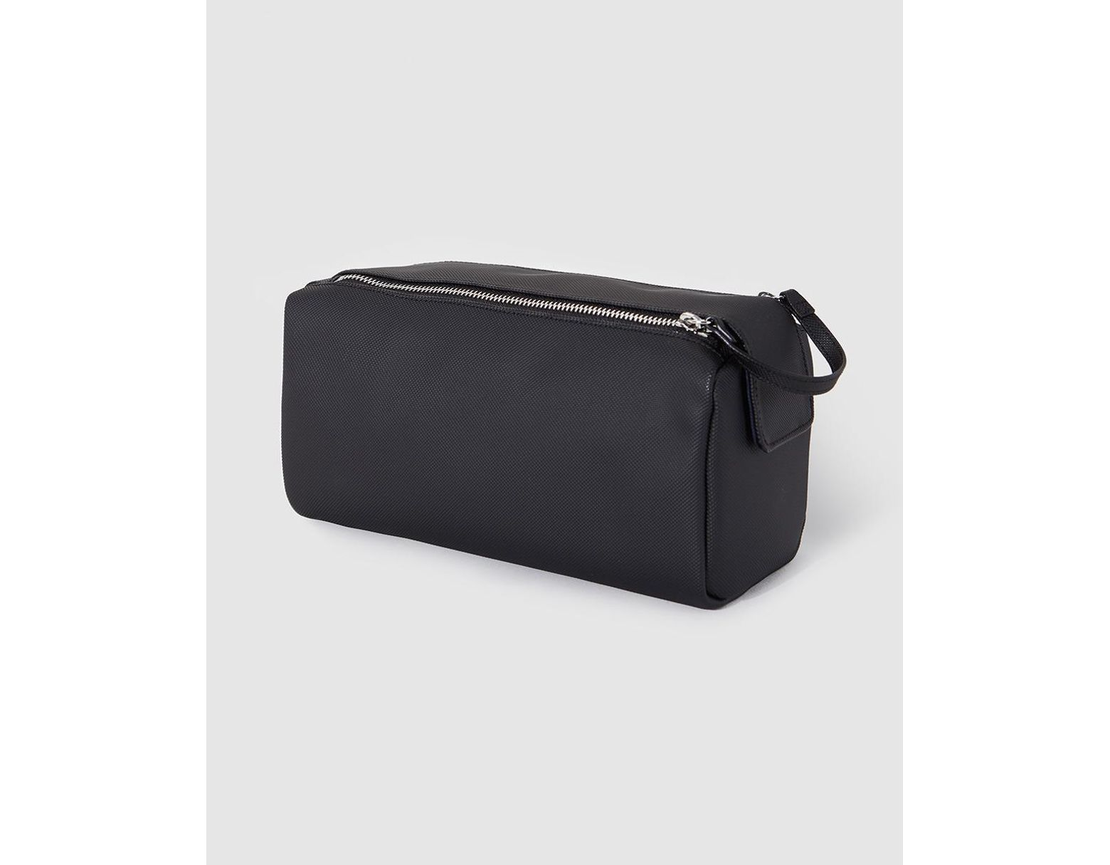 56bd752d199 Lacoste Black Toiletry Bag With Double Zip in Black for Men - Lyst