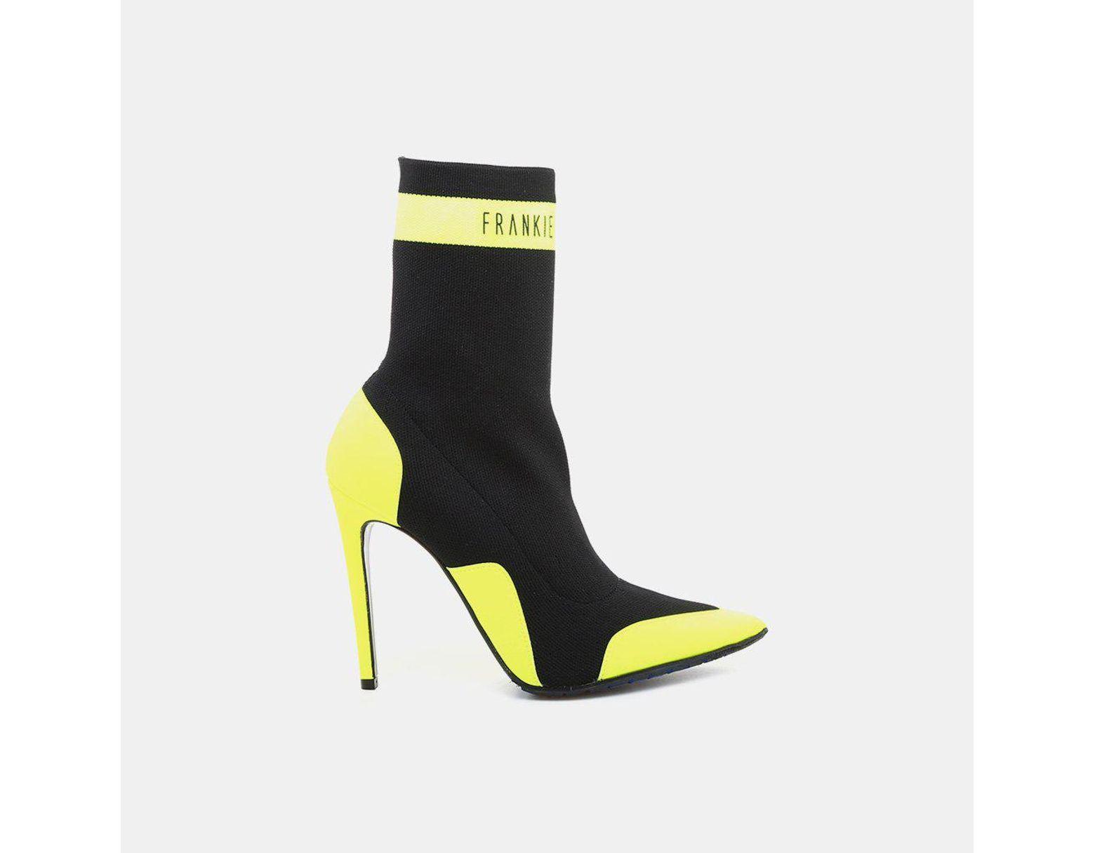 e8c8e5571e960 Frankie Morello Vicky Elastic Ankle Bootie in Black - Lyst