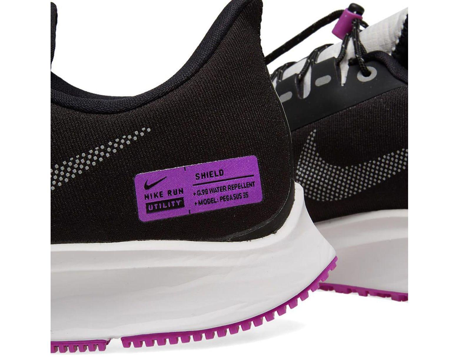761470581b512 Lyst - Nike Air Zoom Pegasus 35 Shield in Black for Men - Save 50%