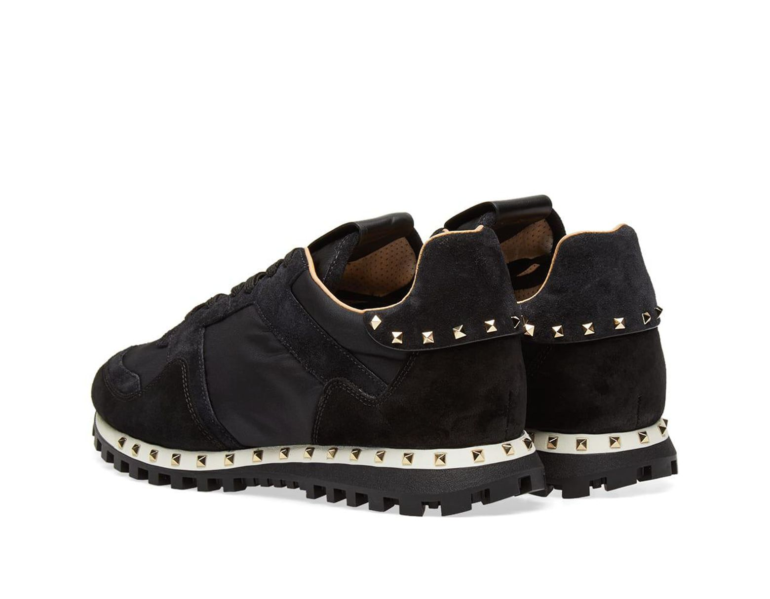 f23bb053872c3 Valentino Camo Stud Sole Rockrunner Sneaker in Black for Men - Save 35% -  Lyst