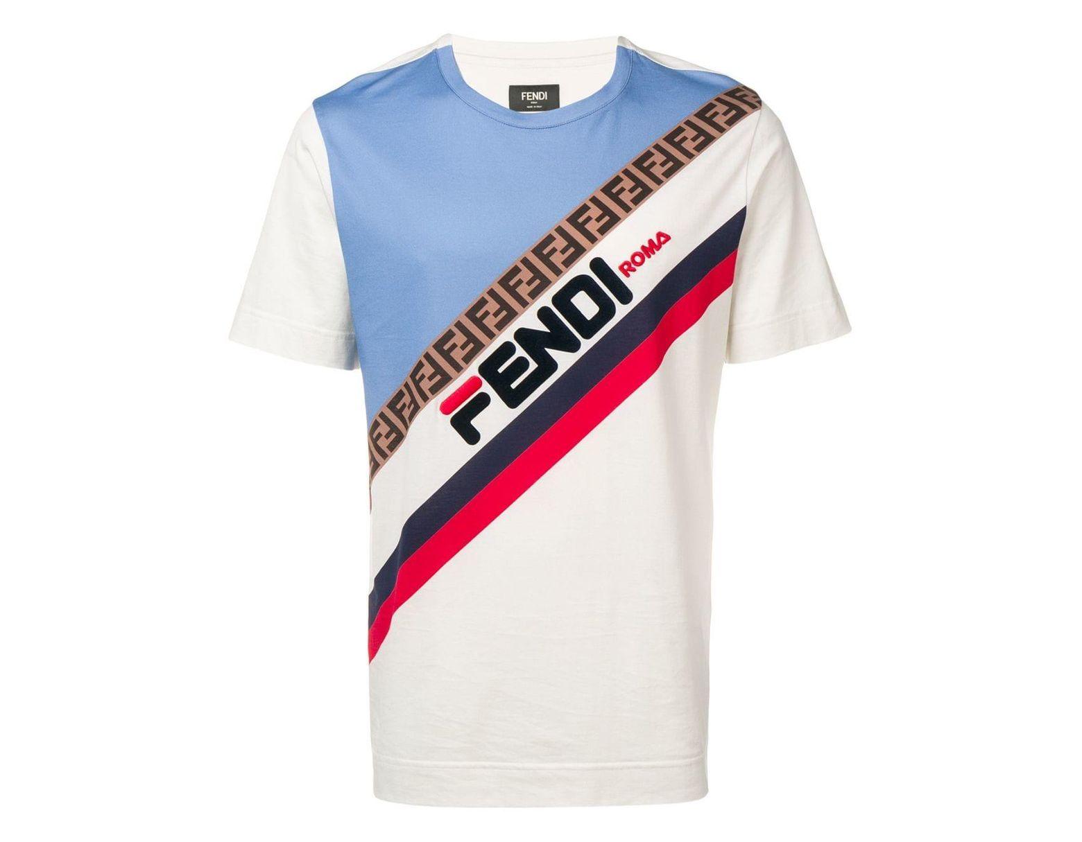 6f8da1ee7 Fendi Logo Print T-shirt for Men - Save 33% - Lyst