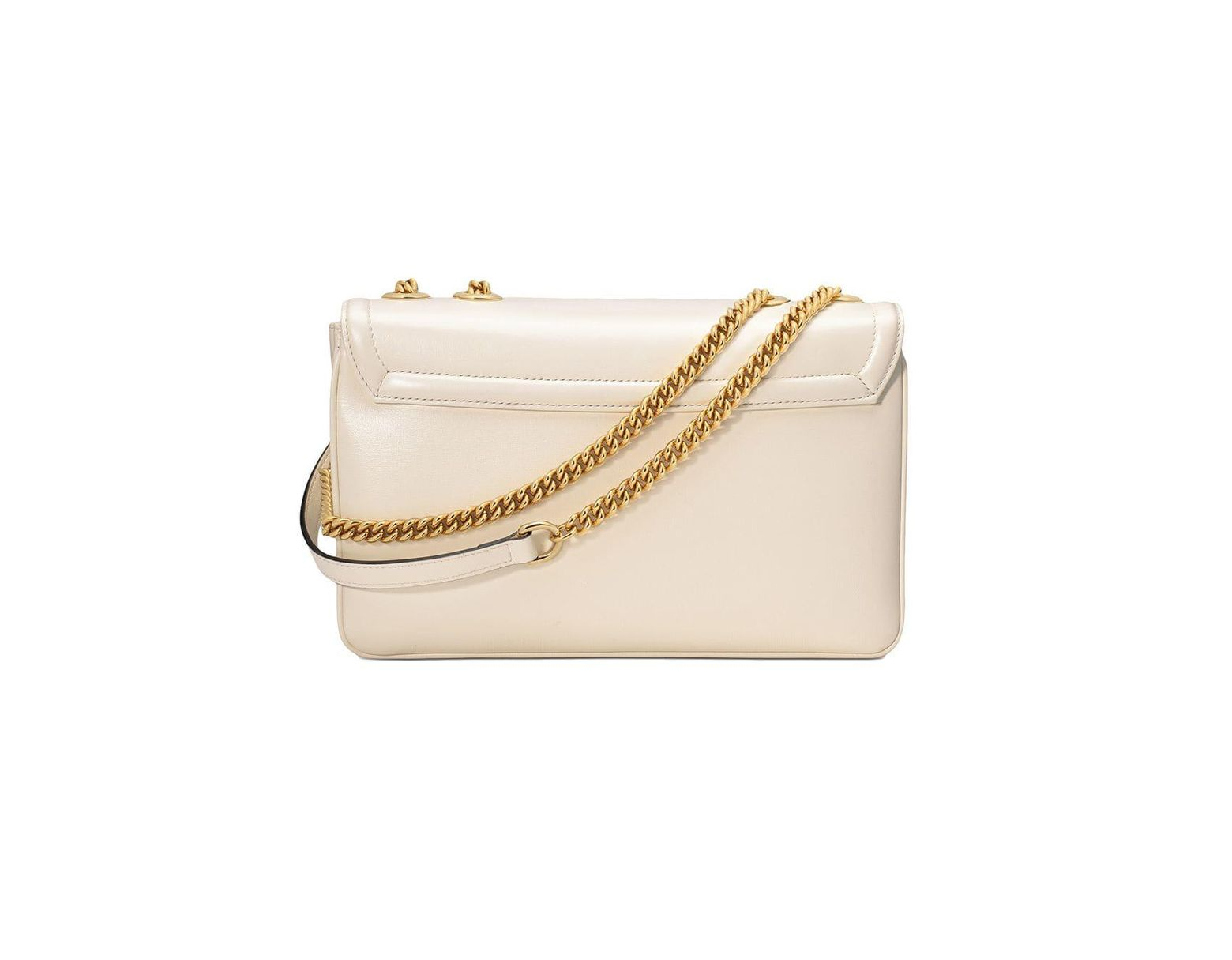 aeee4cee4 Gucci Medium Rajah Shoulder Bag in White - Lyst