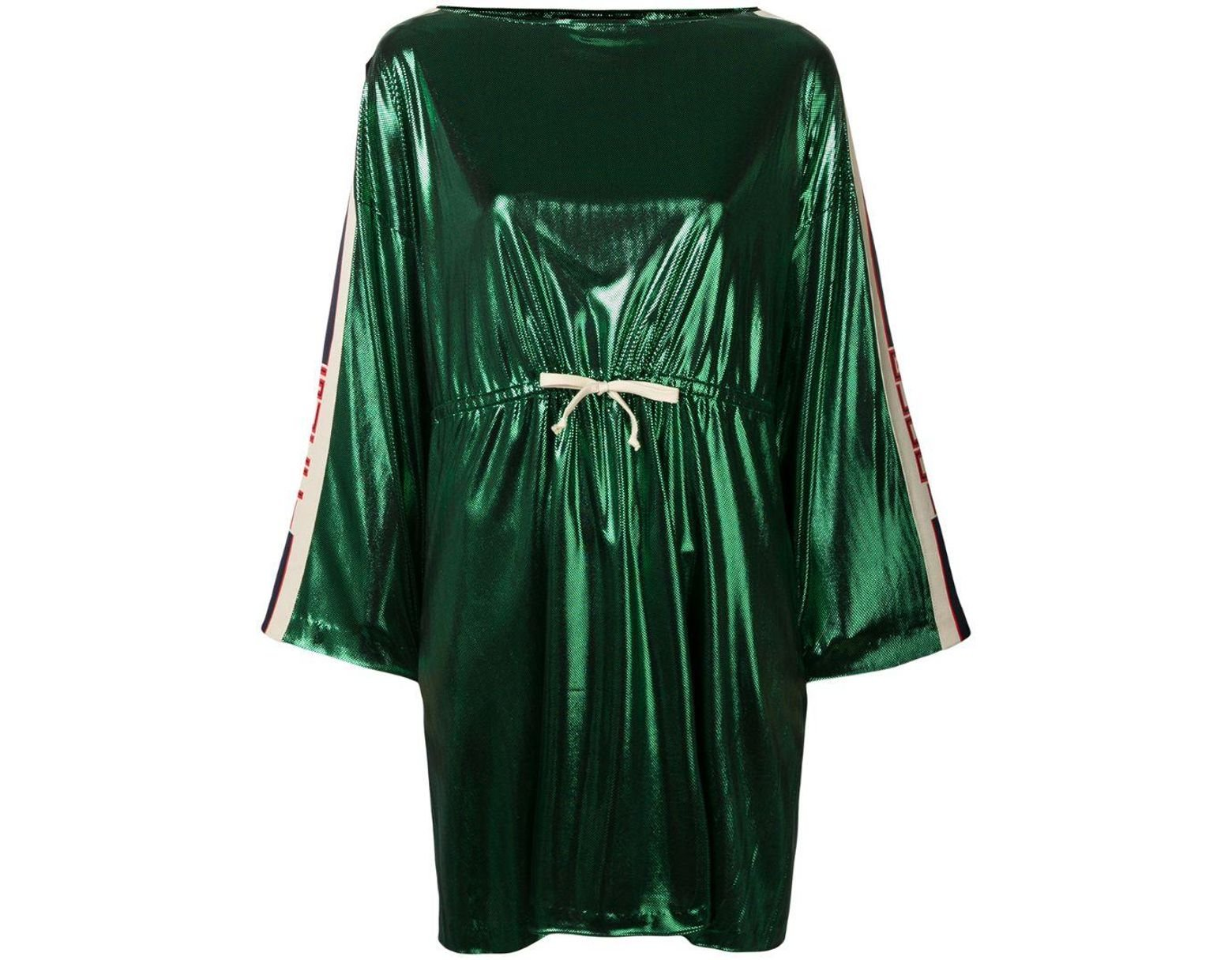 61d70c3df66 Gucci Side Panelled Short Dress in Green - Save 38% - Lyst