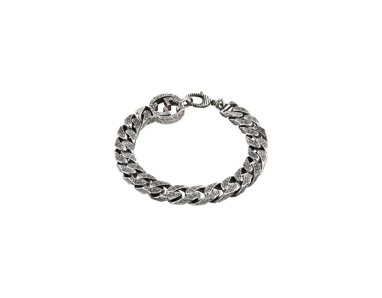 766776bcb Gucci Interlocking G Chain Bracelet In Silver in Metallic for Men - Save 5%  - Lyst