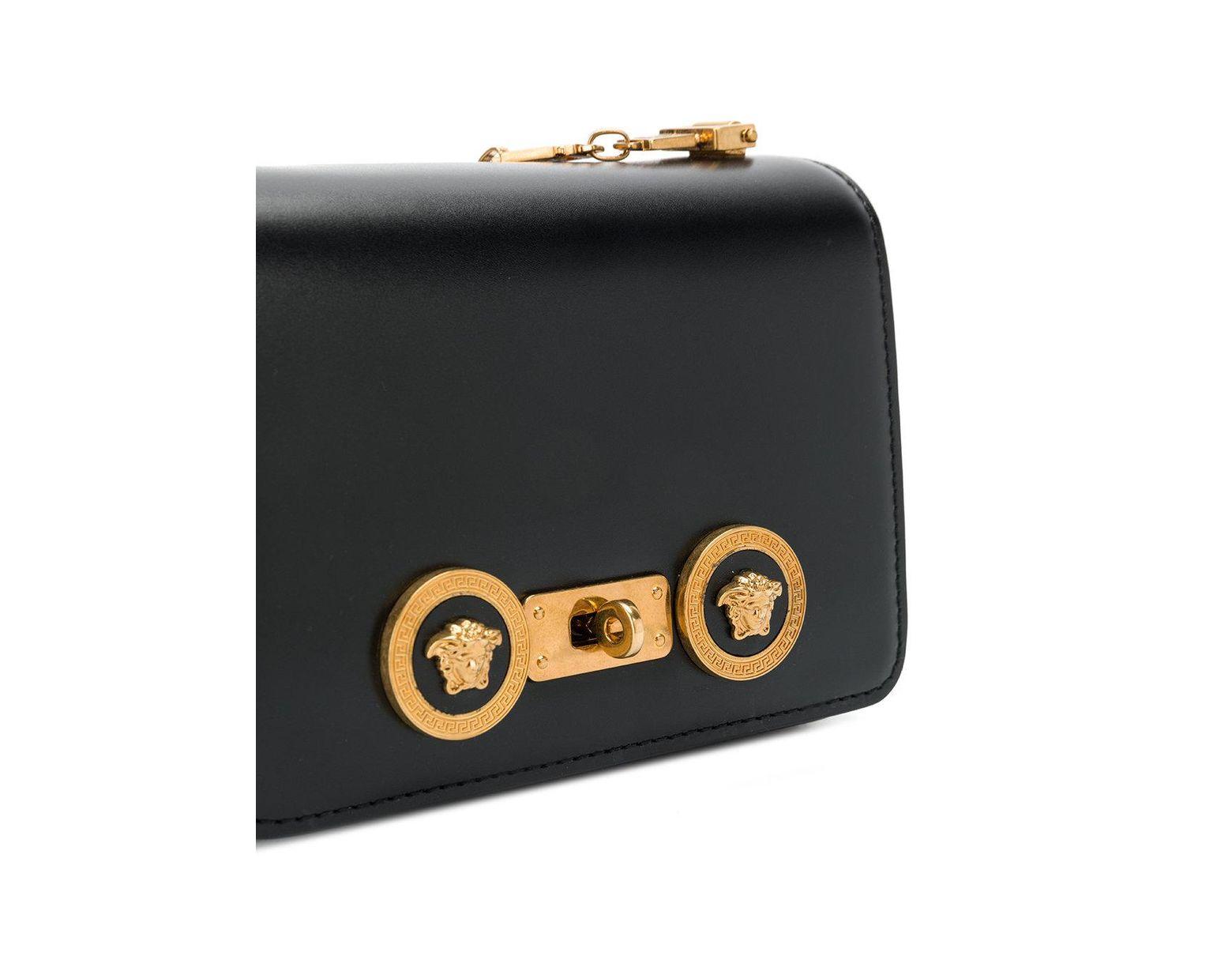 09ed019dd32 Versace Greek Medusa Shoulder Bag in Black - Lyst