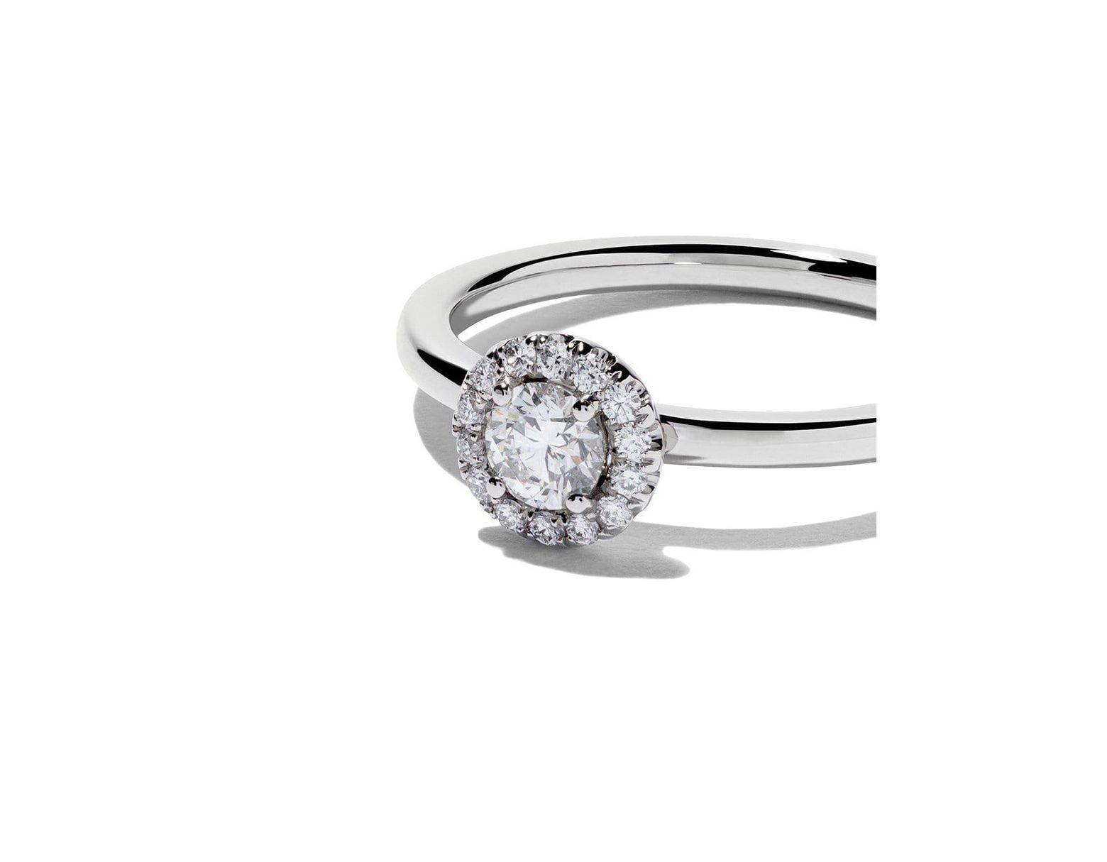 3b6b4f6013b9ef De Beers Platinum My First Aura Solitaire Diamond Ring - Lyst