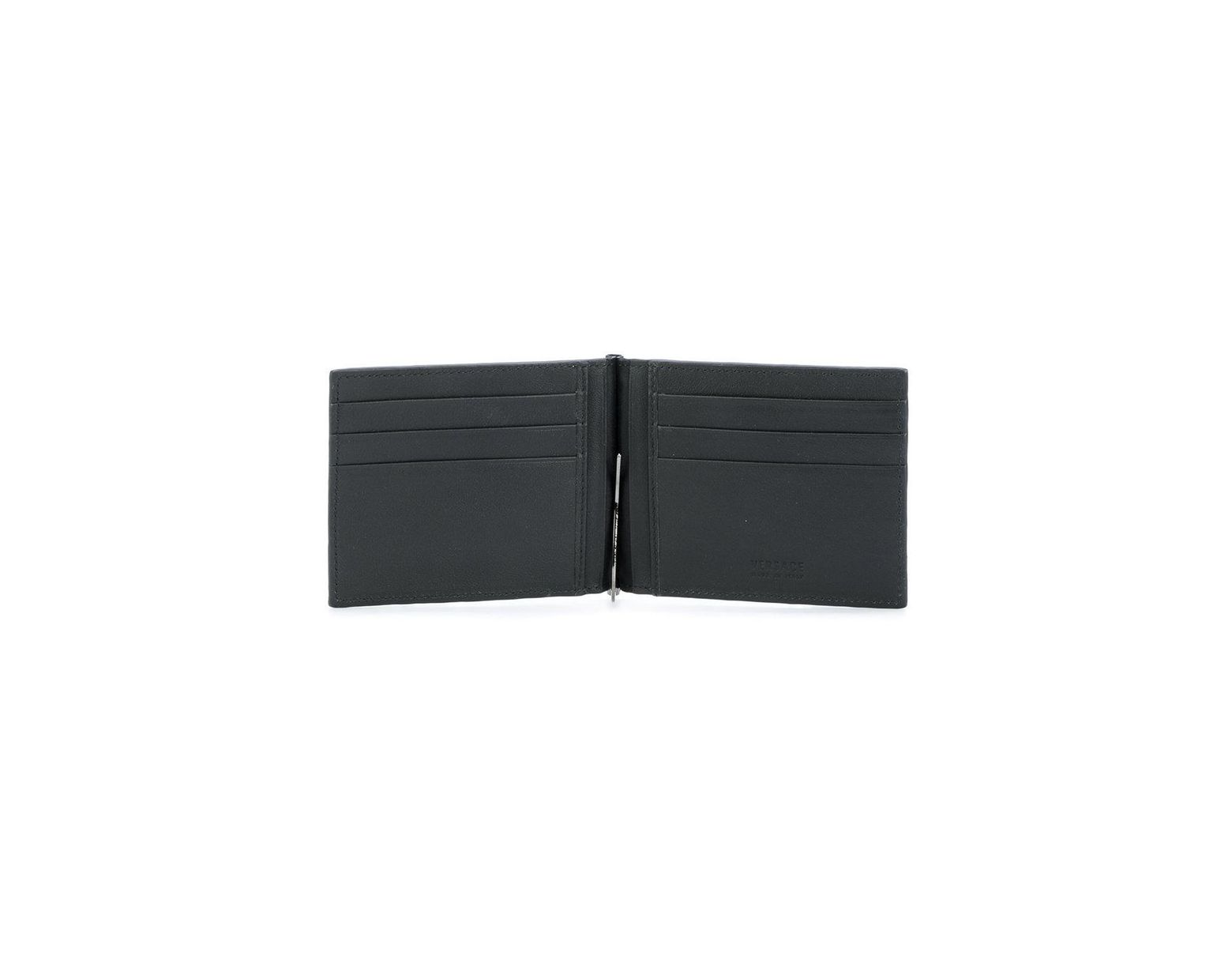 c1ebffdede Versace Embossed Greek Key Cardholder in Black for Men - Lyst
