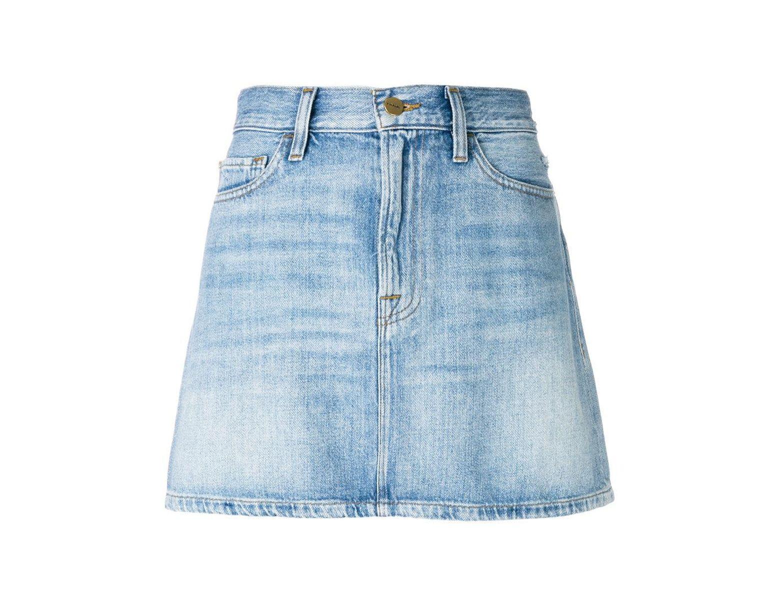 ed4fa6f64 Minijupe Le Mini en jean FRAME en coloris Bleu - Lyst