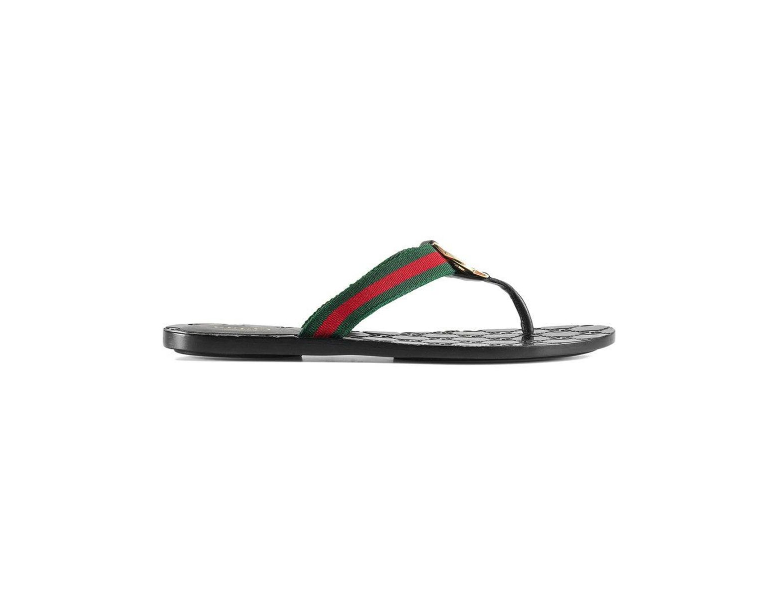 5cdc2abf83ea Lyst - Gucci GG Thong Web Sandal in Black