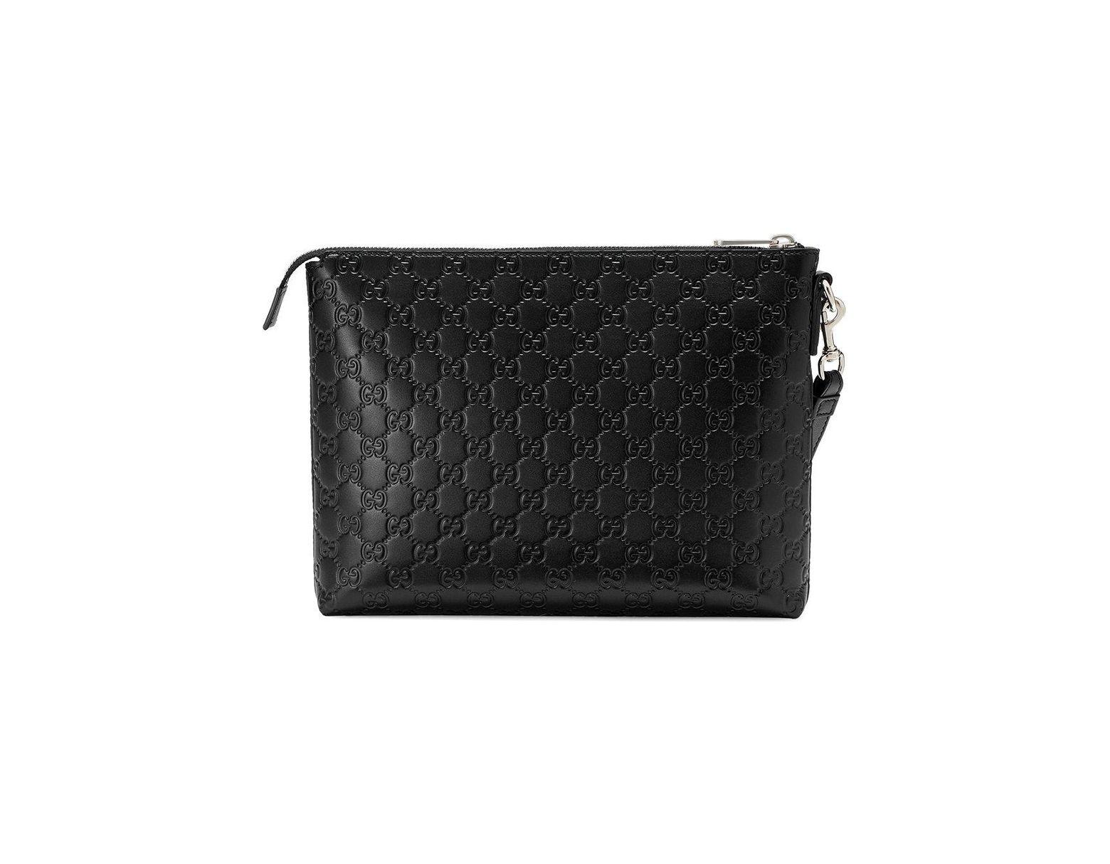 918e2bd4bed Gucci Signature Soft Men's Bag in Black for Men - Lyst